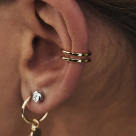 Selected Jewels Léna Joy 925 sterling silver gold colored ear cuff