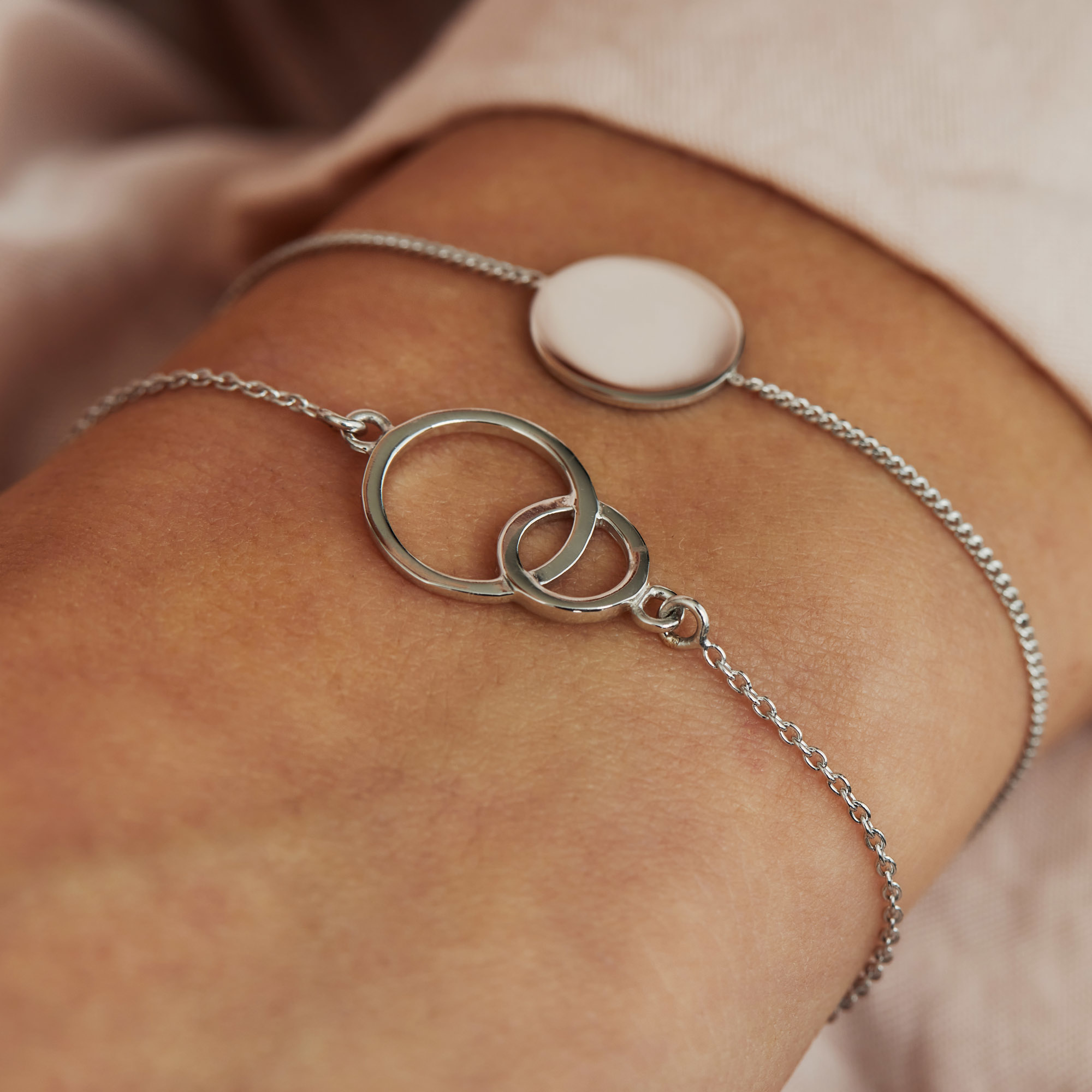 Selected Jewels Zoé bracciale in argento sterling 925
