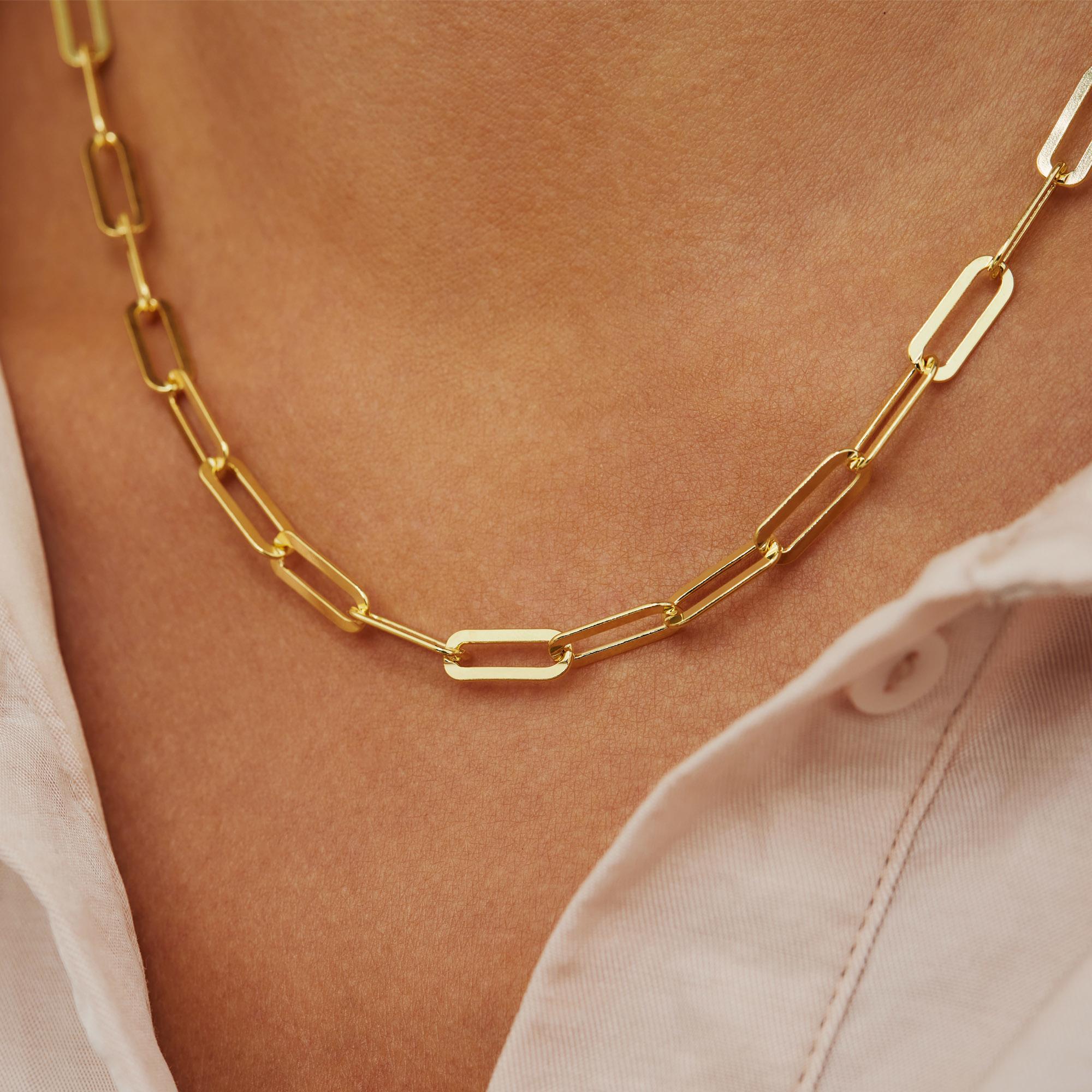 Selected Jewels Emma Jolie 925 Sterling Silber goldfarbenes Kette
