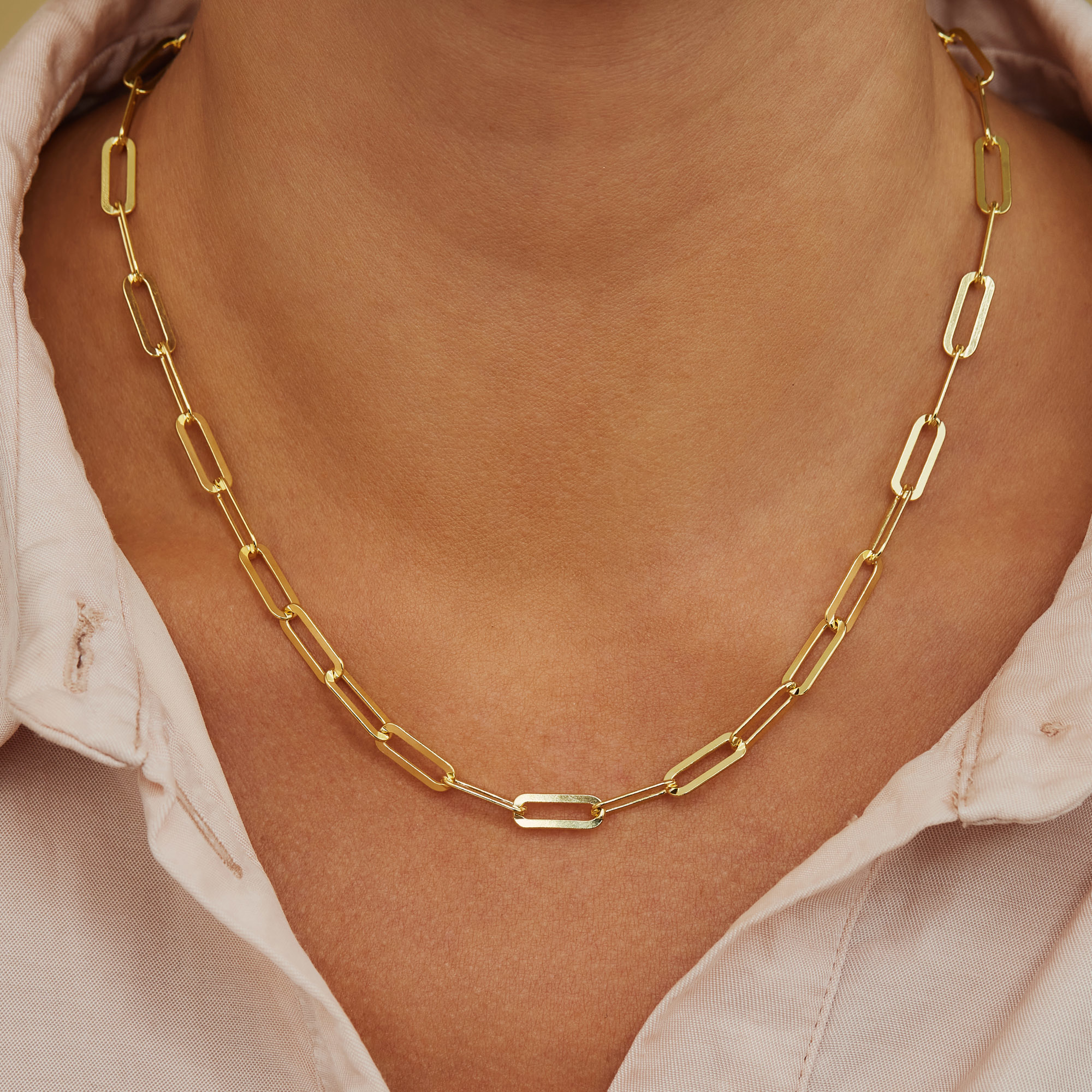 Selected Jewels Emma Jolie 925 sterling silver gold colored necklace