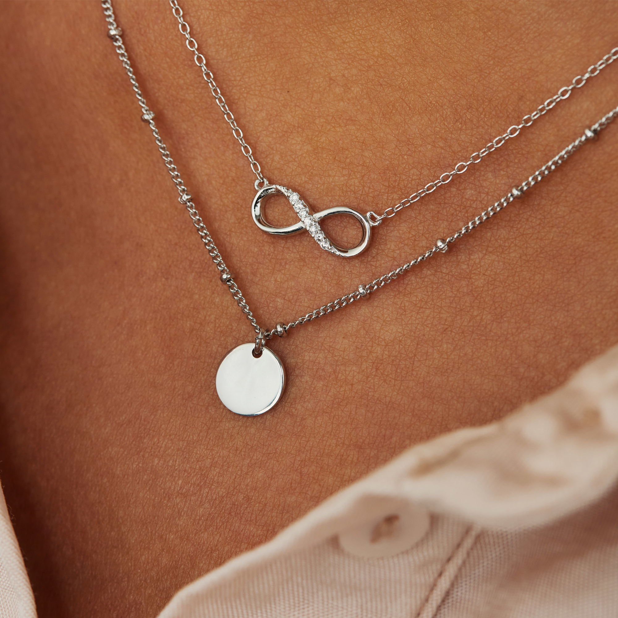Selected Jewels Julie Emilie 925 sterling silver infinity necklace