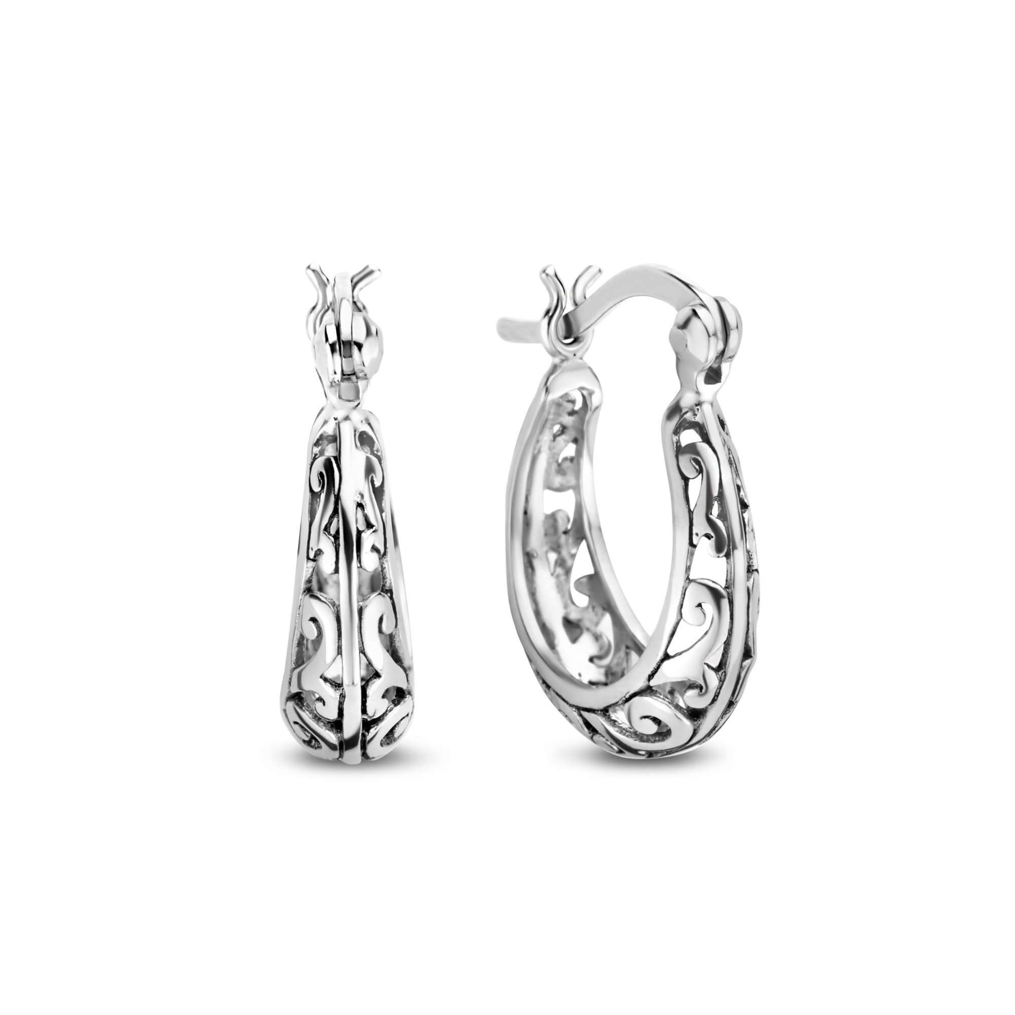 Selected Jewels Léna Claire creole in argento sterling 925