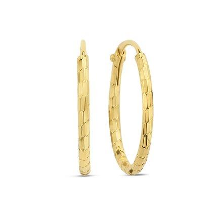 Selected Jewels Zoé 925 sterling zilveren goudkleurige creolen