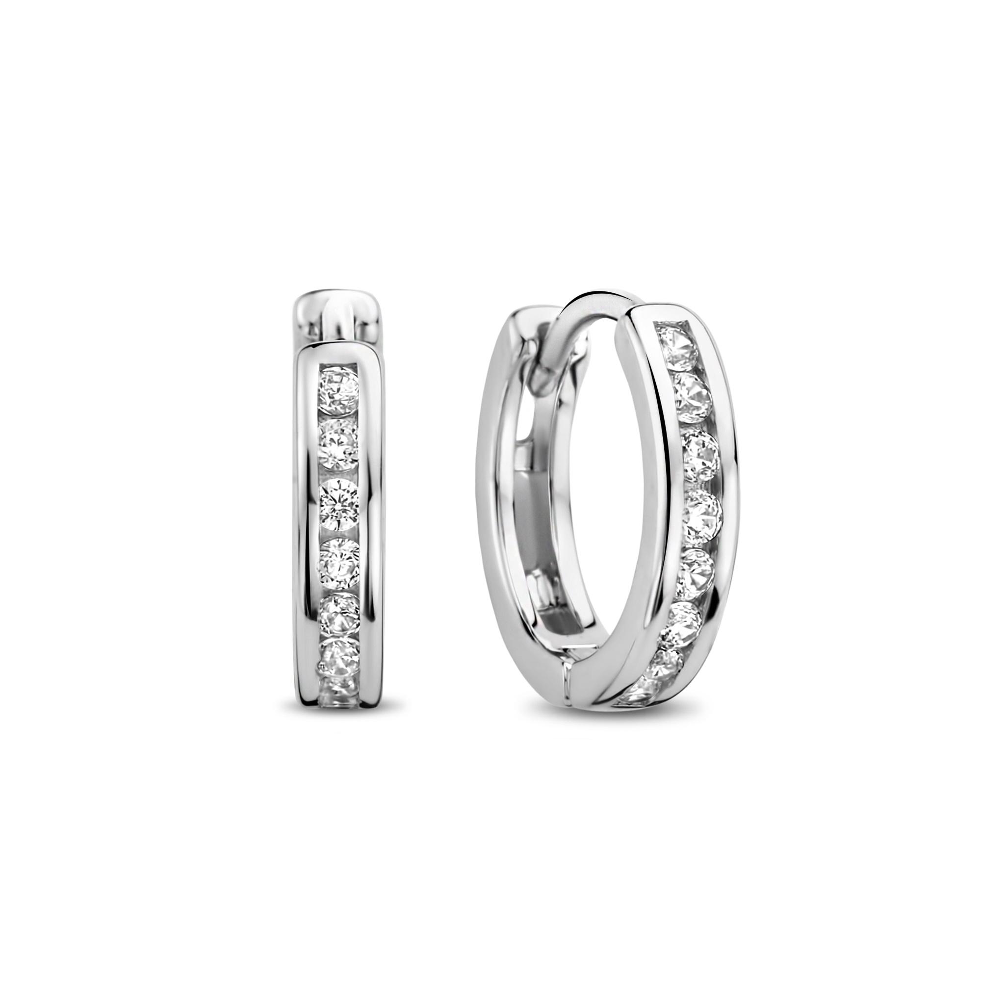 Selected Jewels Mila Elodie 925 sterling zilveren creolen met zirkonia