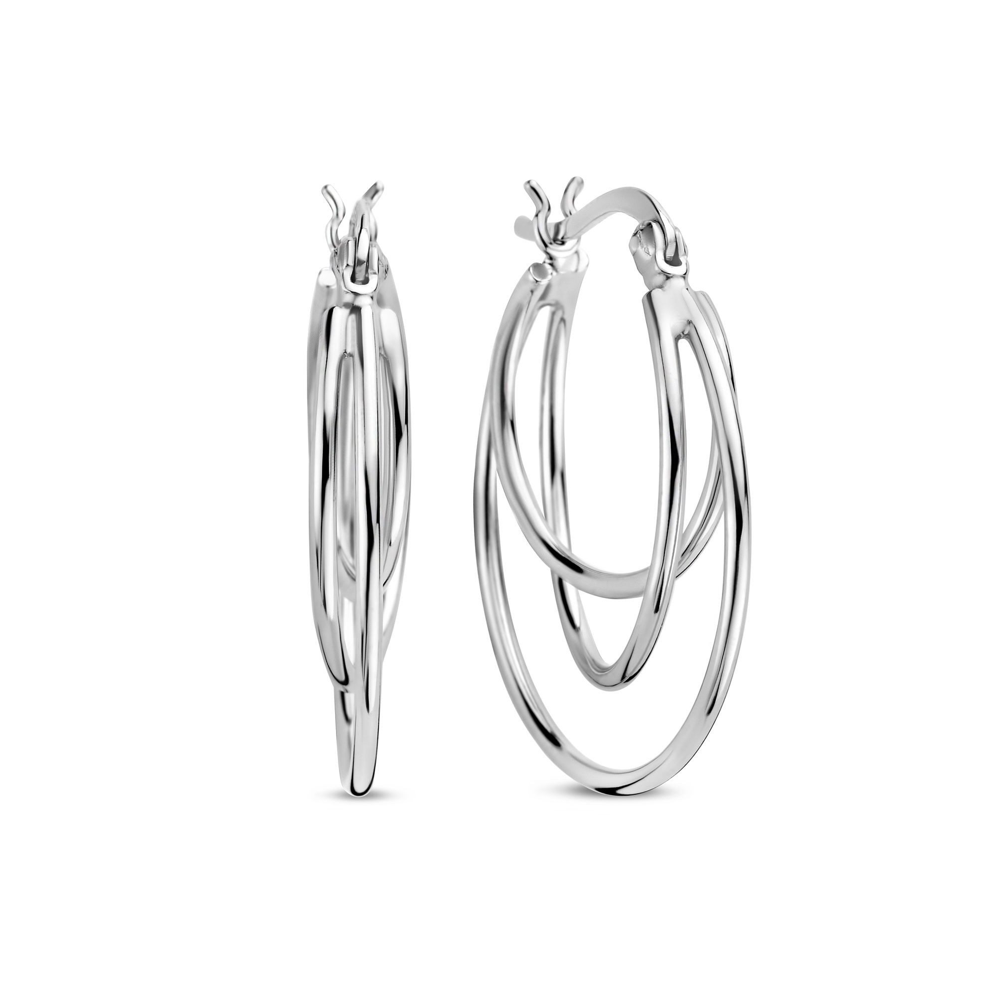 Selected Jewels Zoé creole in argento sterling 925