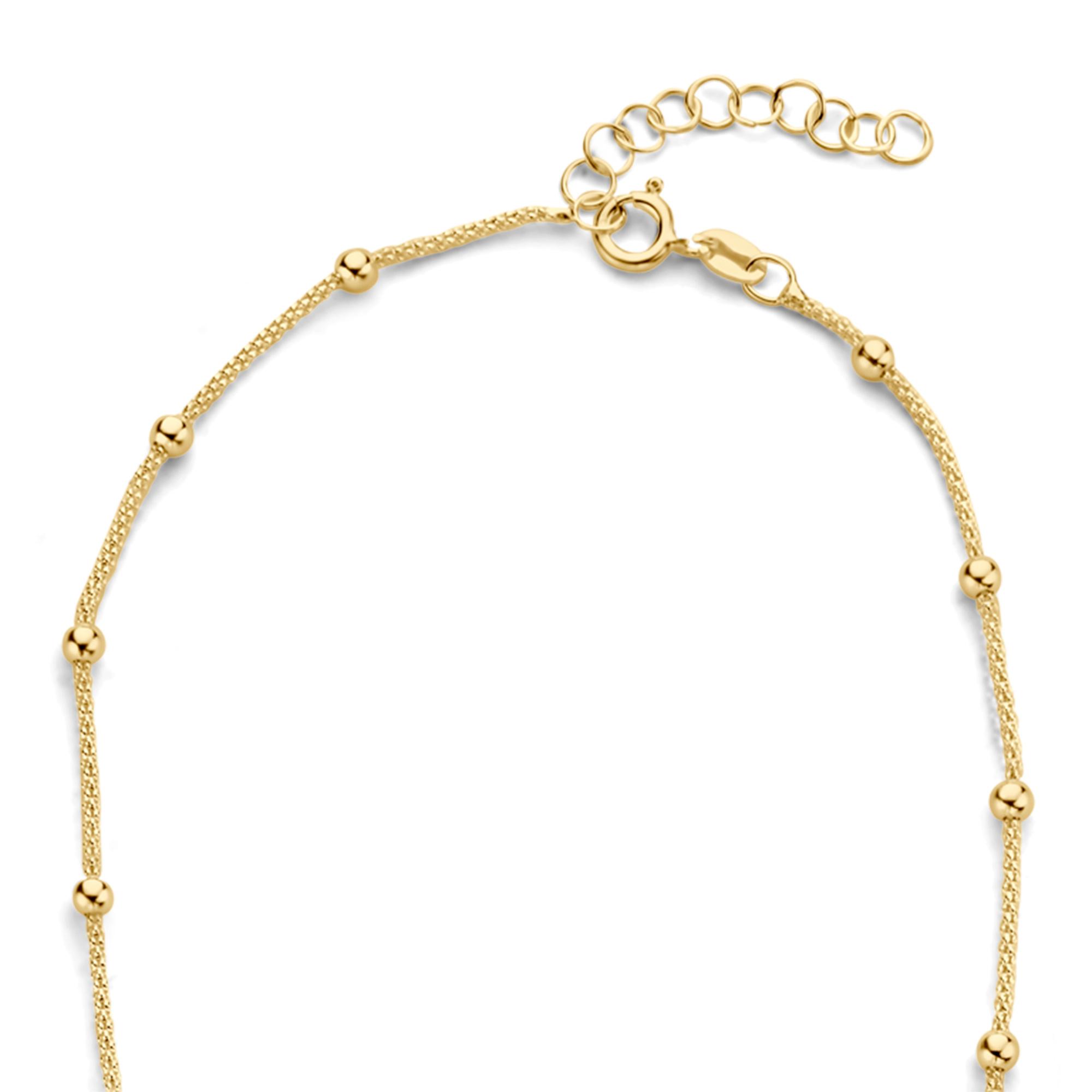 Selected Jewels Selected Gifts 925 sterling zilveren goudkleurige set armband en ketting