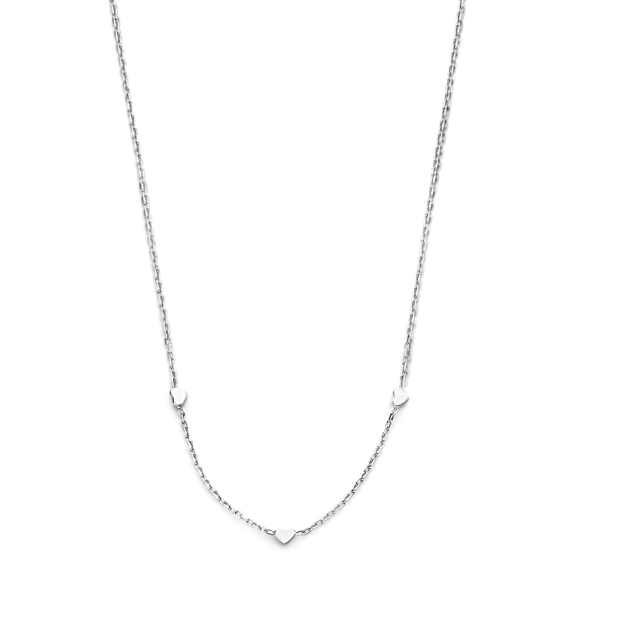 Selected Jewels Aimée 925 sterling zilveren ketting met hartjes