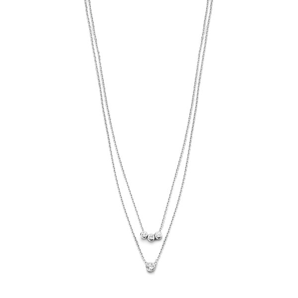 Selected Jewels Mila Elodie 925 Sterling Silber Doppelt Kette