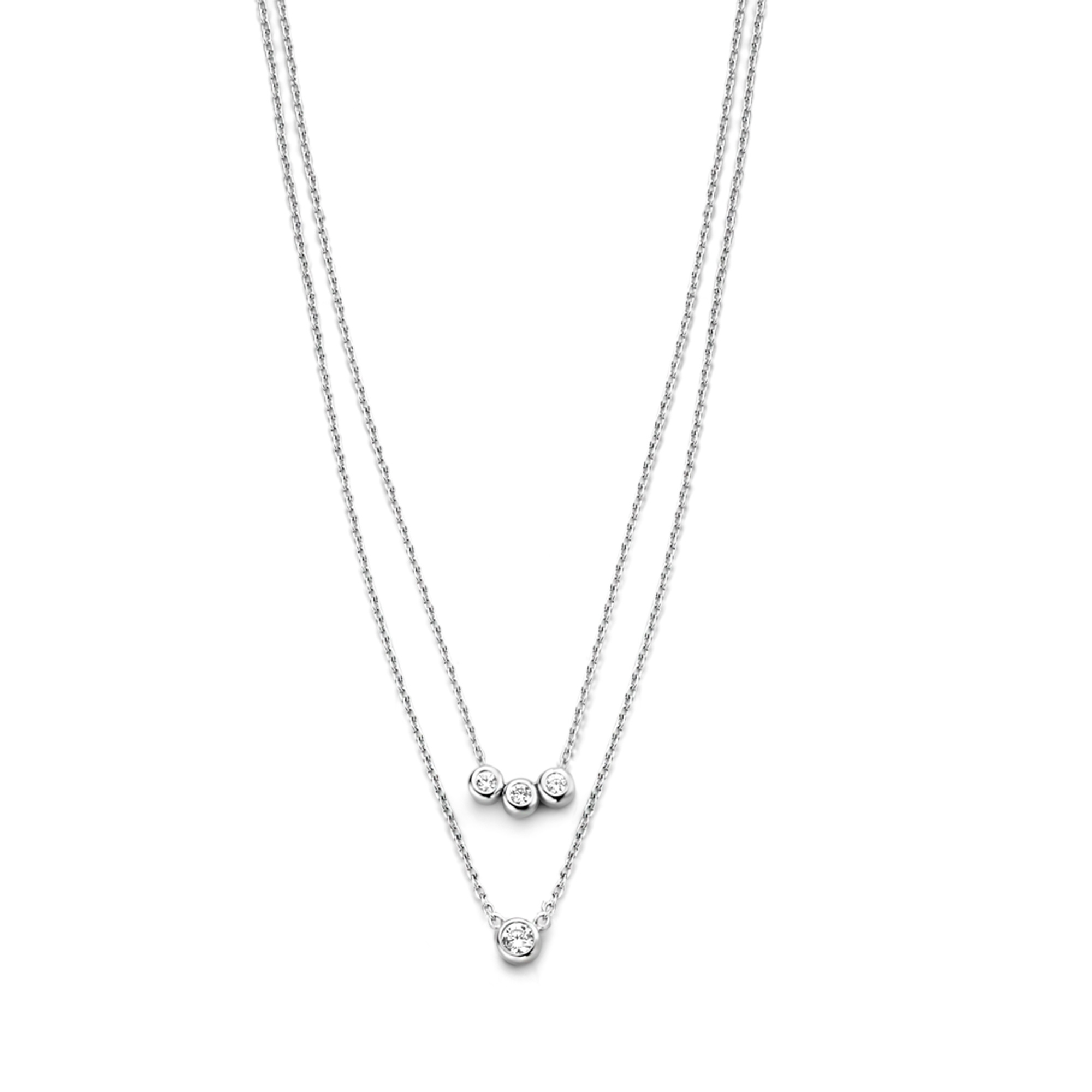 Selected Jewels Mila Elodie 925 Sterling Silber Doppelt Kette