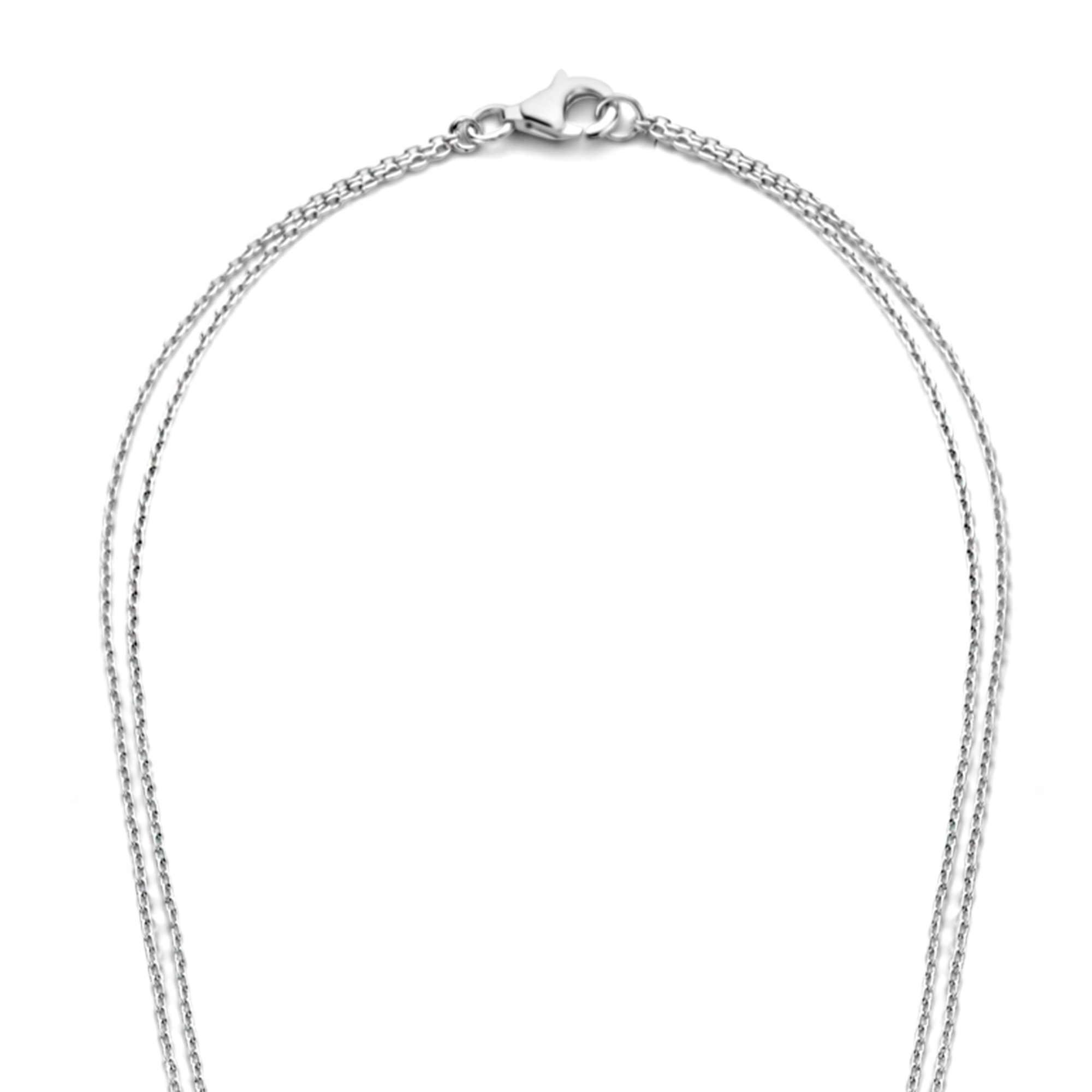 Selected Jewels Mila Elodie 925 sterling silver double necklace with zirconia