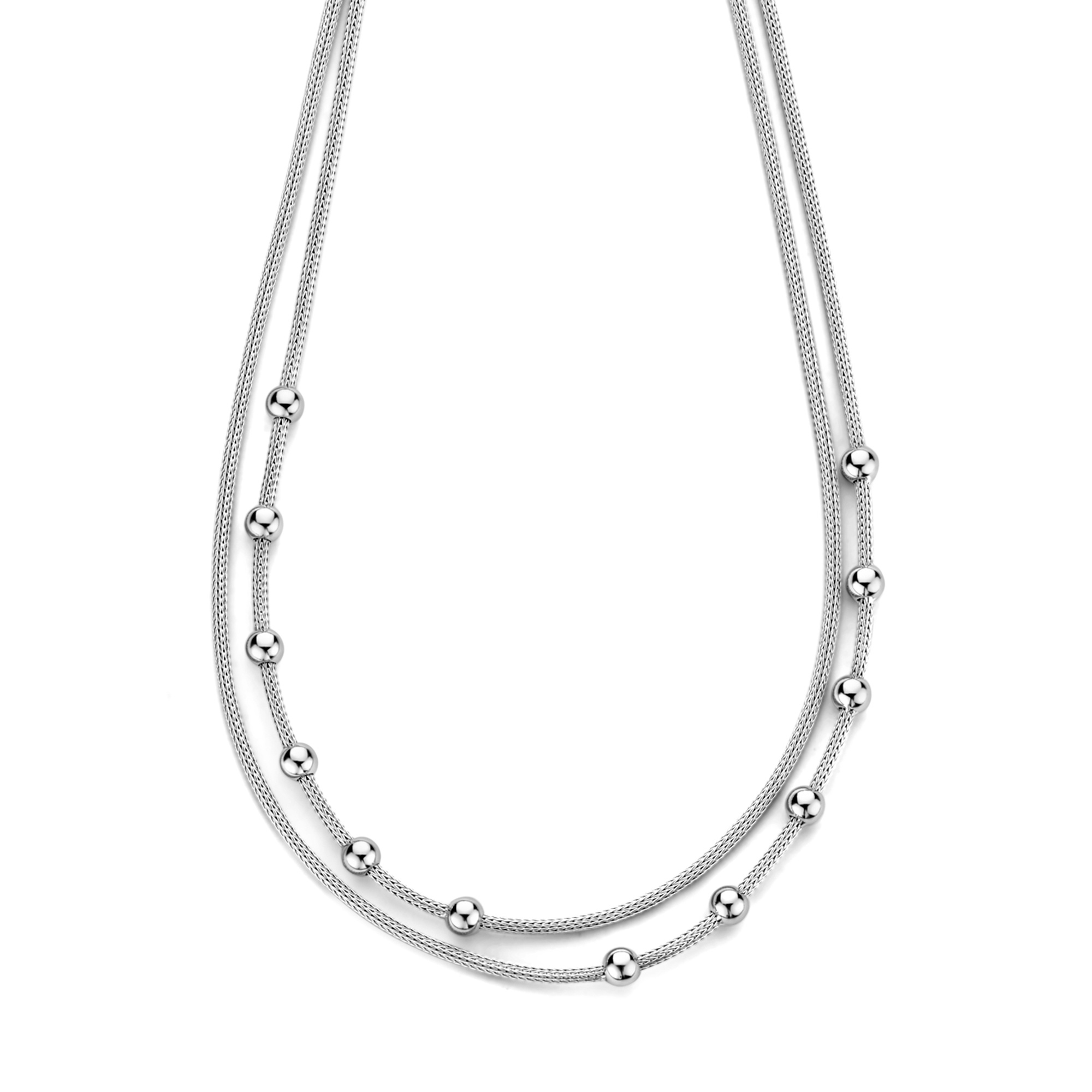 Selected Jewels Léna Nina 925 sterling silver double necklace with spheres