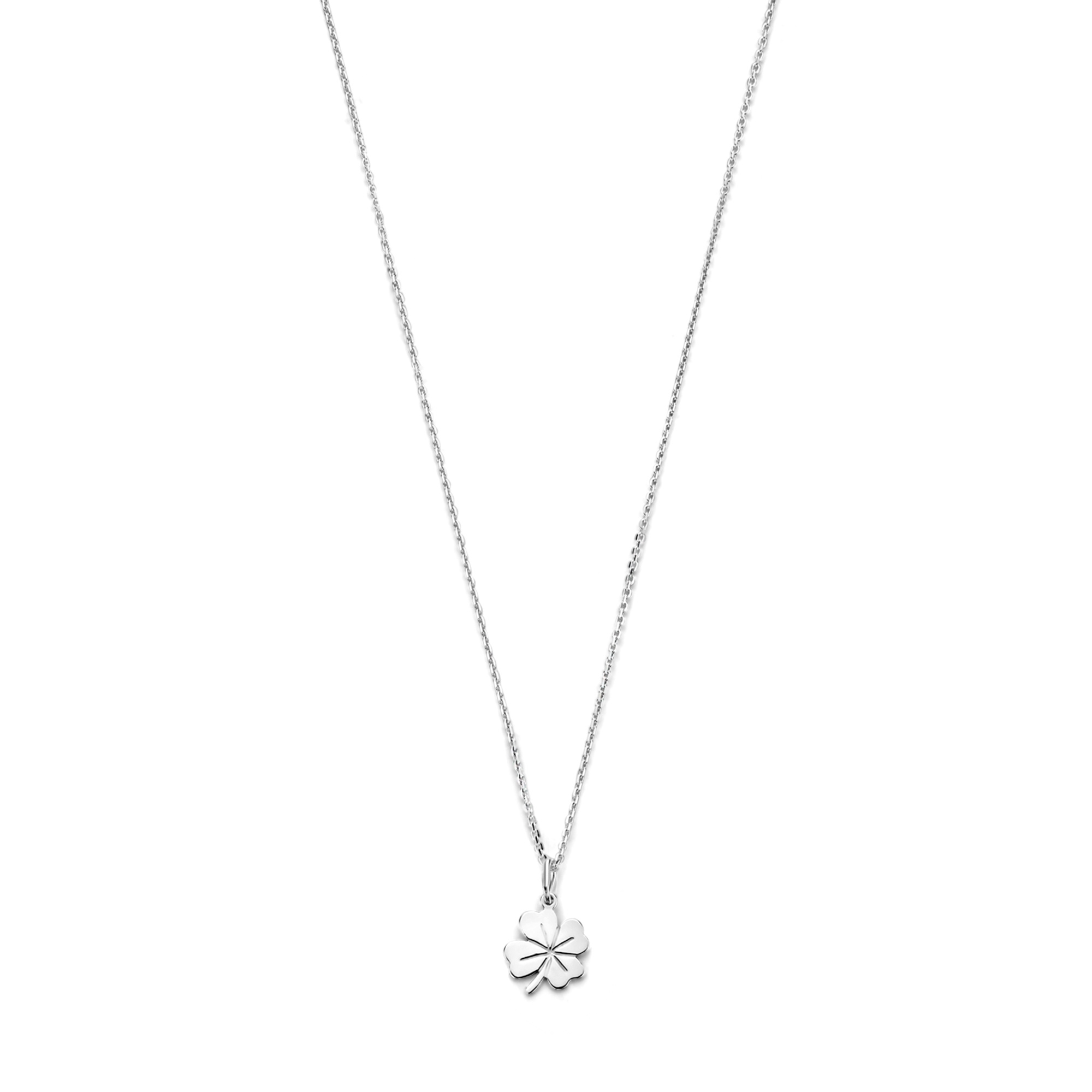 Selected Jewels Julie Olivia 925 sterling silver necklace with four-leaf clover