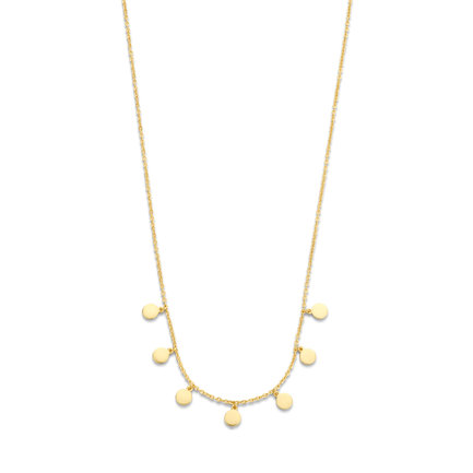 Selected Jewels Julie Belle 925 sterling silver gold colored necklace