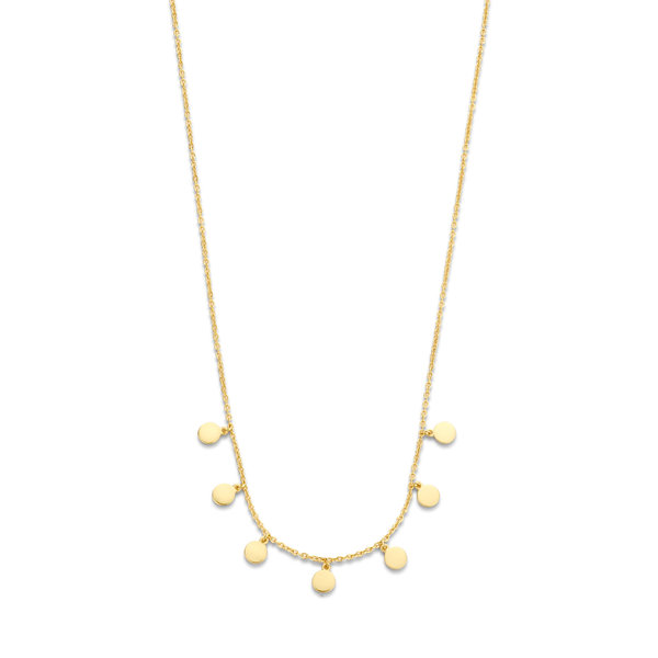 Selected Jewels Julie Belle 925 sterling zilveren goudkleurige ketting