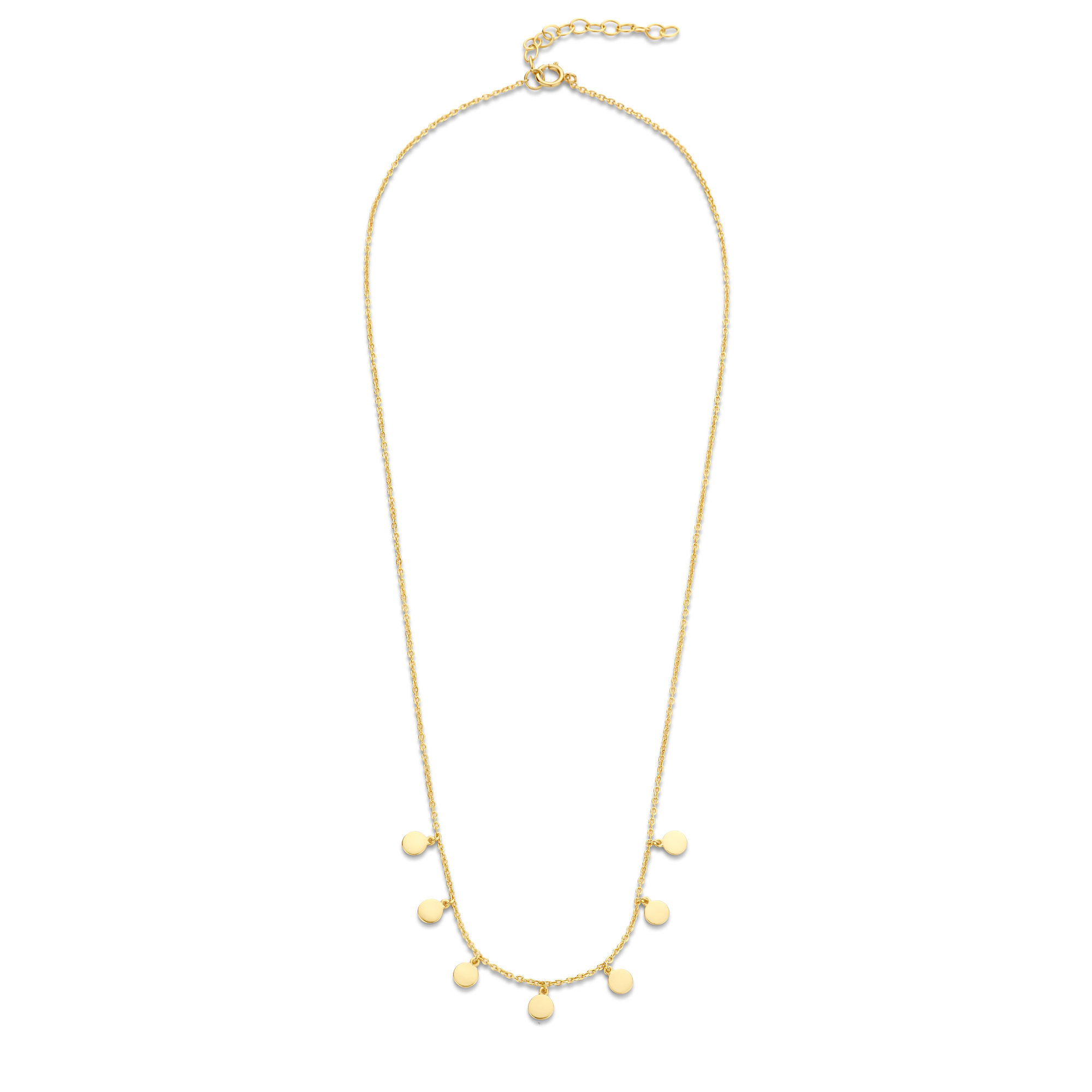 Selected Jewels Julie Belle 925 sterling zilveren goudkleurige ketting met muntjes
