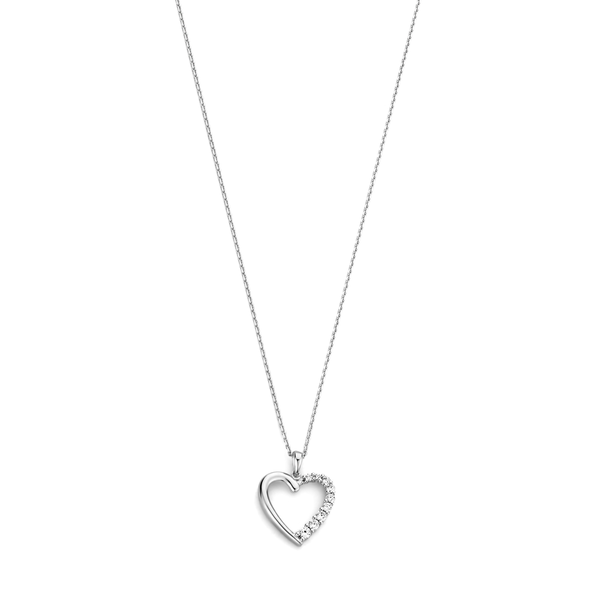 Selected Jewels Aimée 925 sterling silver necklace with heart and zirconia