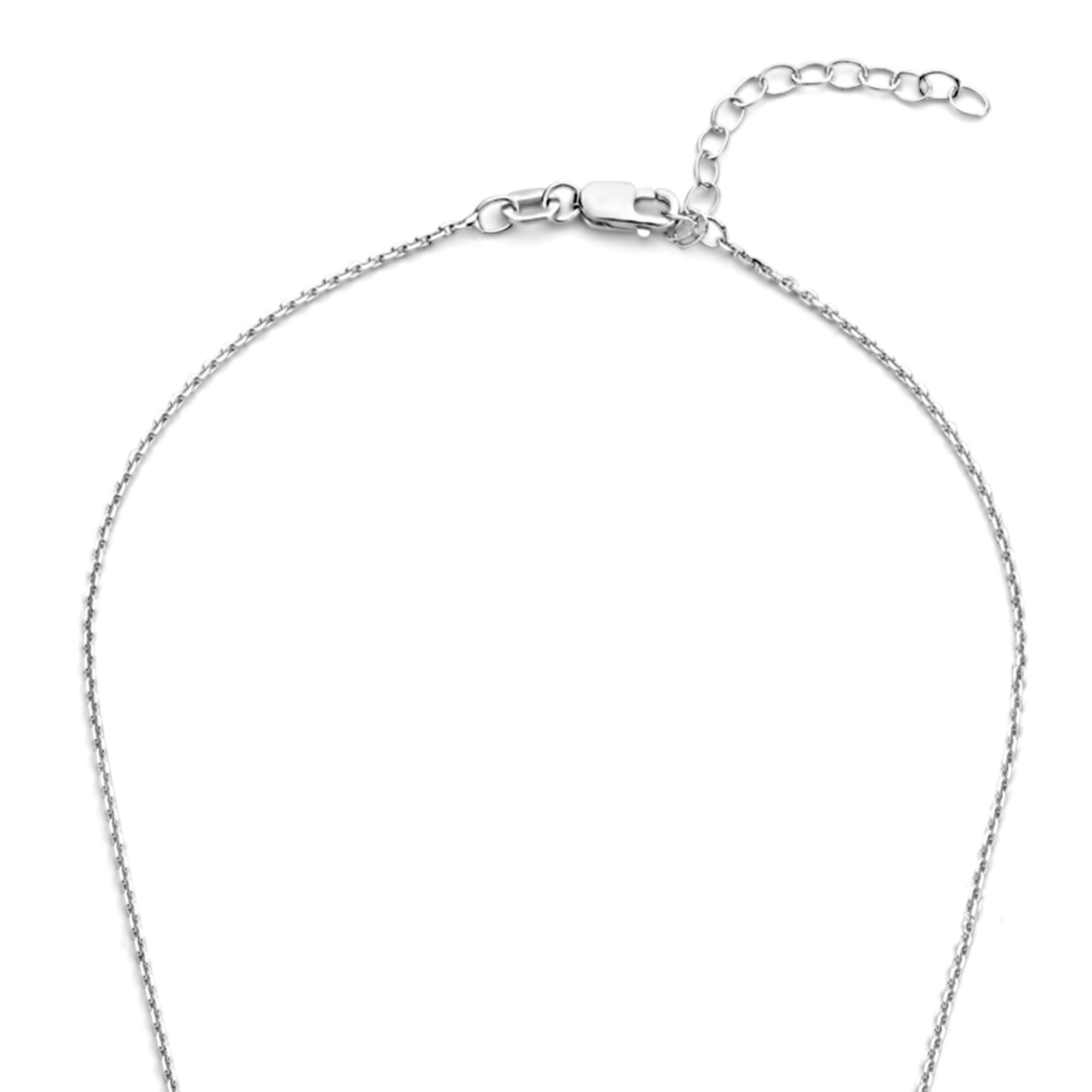 Selected Jewels Mila Elodie 925 sterling zilveren ketting met zirkonia