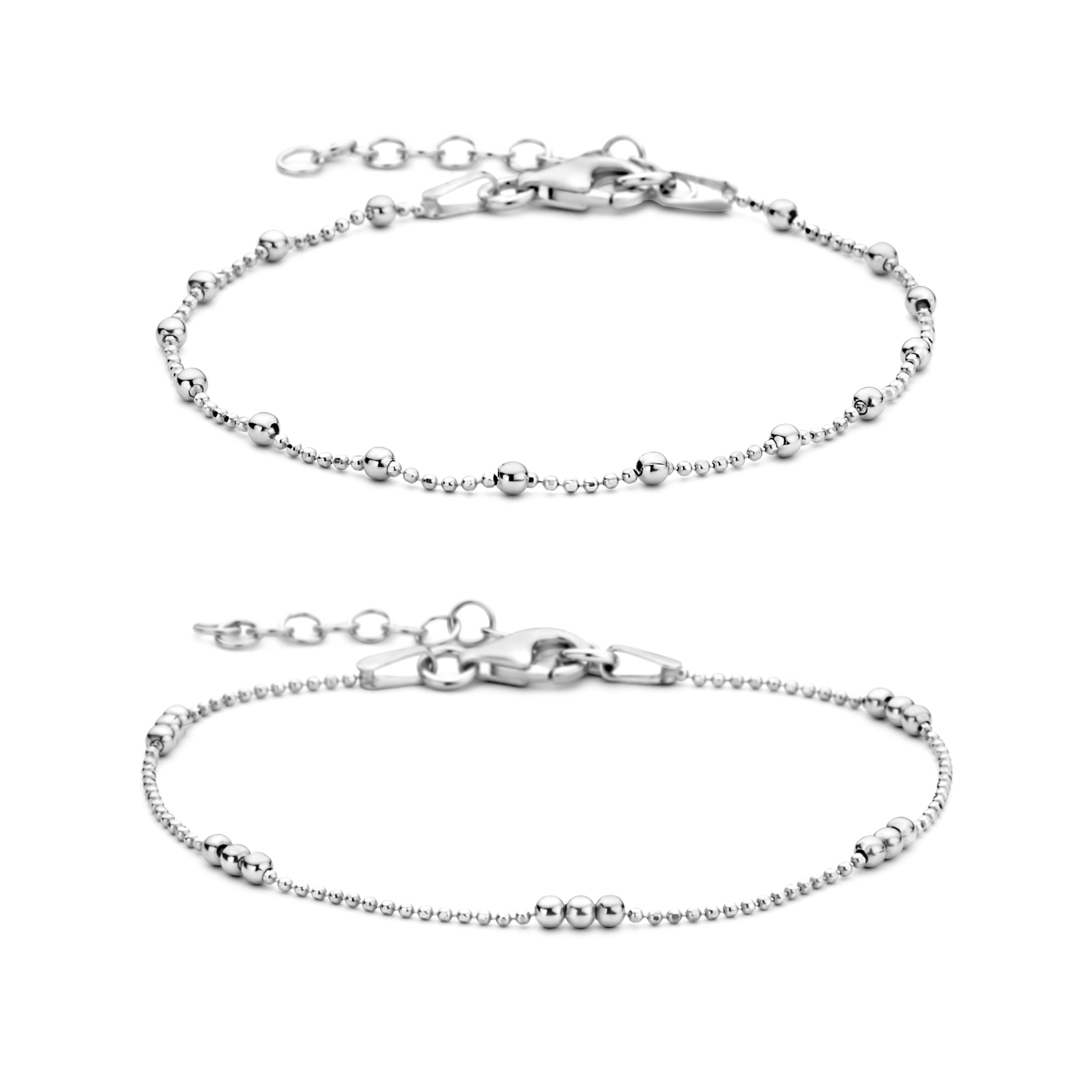 Selected Jewels Selected Gifts set di braccialetti in argento sterling 925