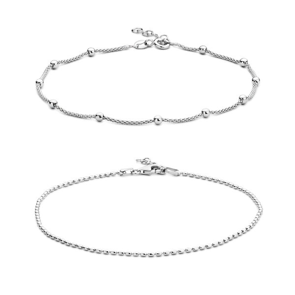 Selected Jewels Selected Gifts 925 sterling zilveren set enkelbandjes