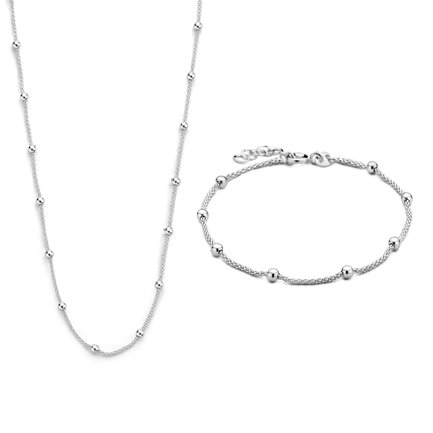 Selected Jewels Selected Gifts 925 sterling silver set bracelet and necklace
