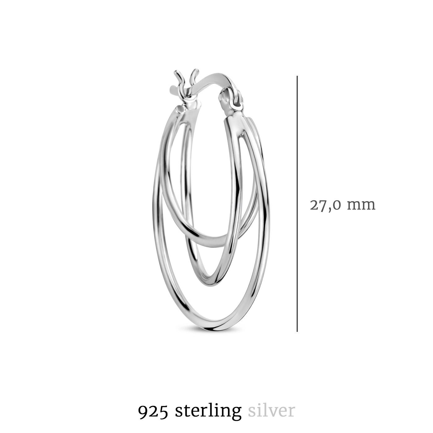 Selected Jewels Zoé créoles en argent sterling 925