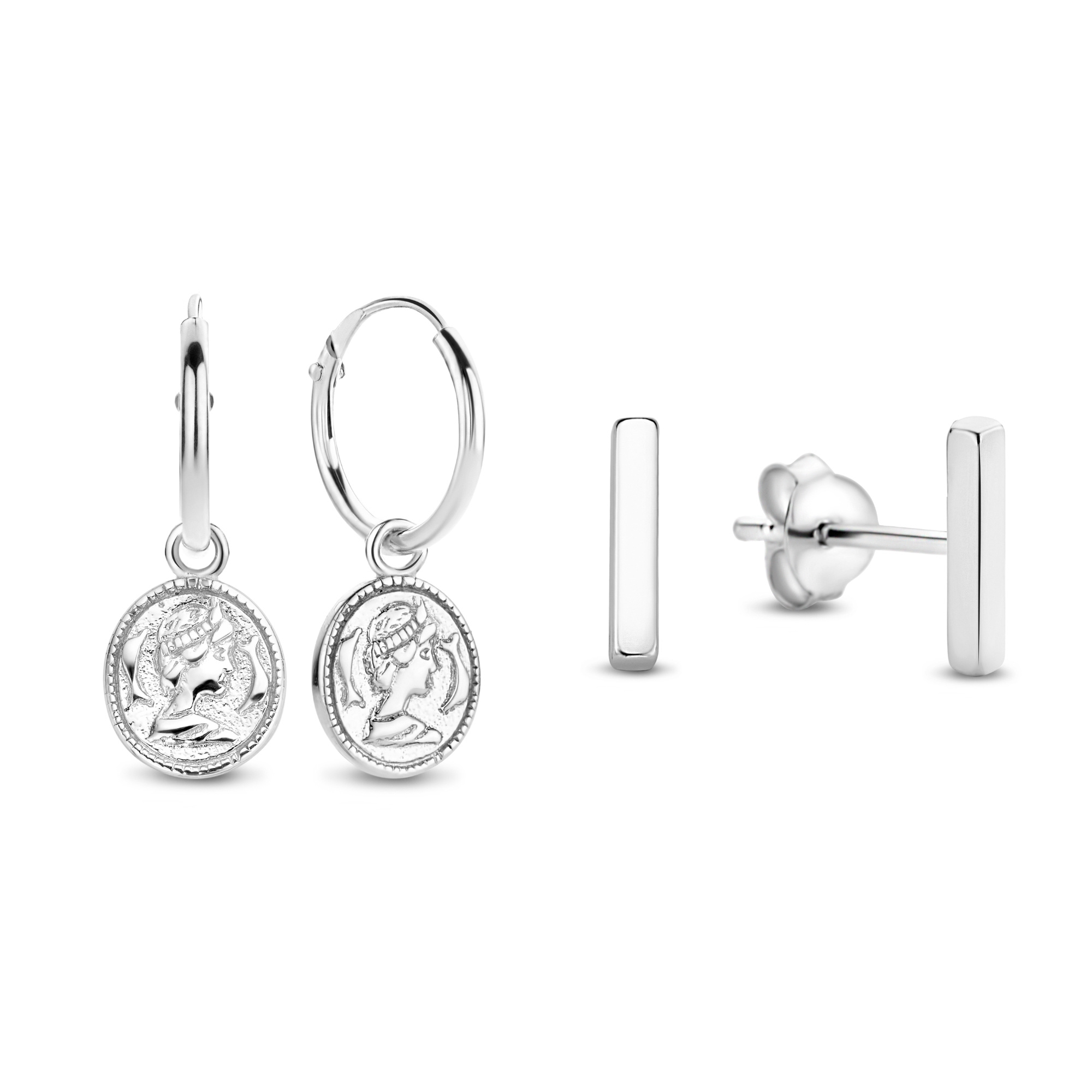 Selected Jewels Selected Gifts ensemble de boucles d'oreilles en argent sterling 925