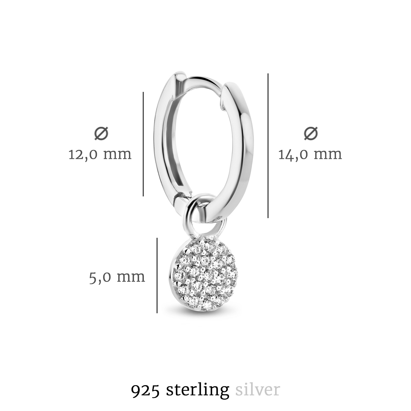 Selected Jewels Mila Elodie 925 sterling sølv creoler