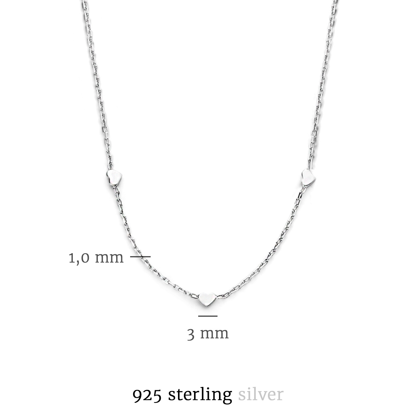 Selected Jewels Aimée 925 sterling sølv halskæde
