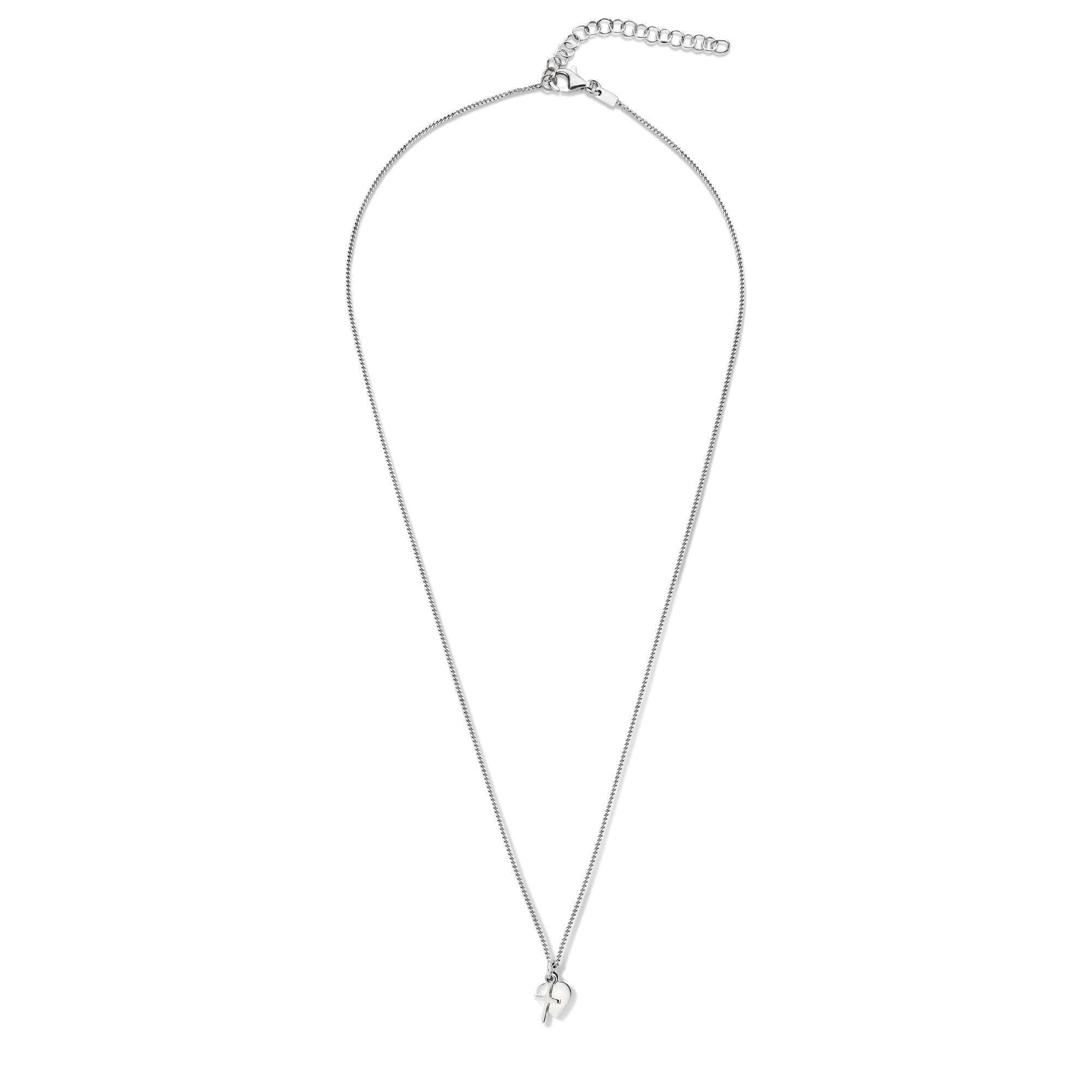 Selected Jewels Julie Théa 925 sterling silver necklace with heart and cross