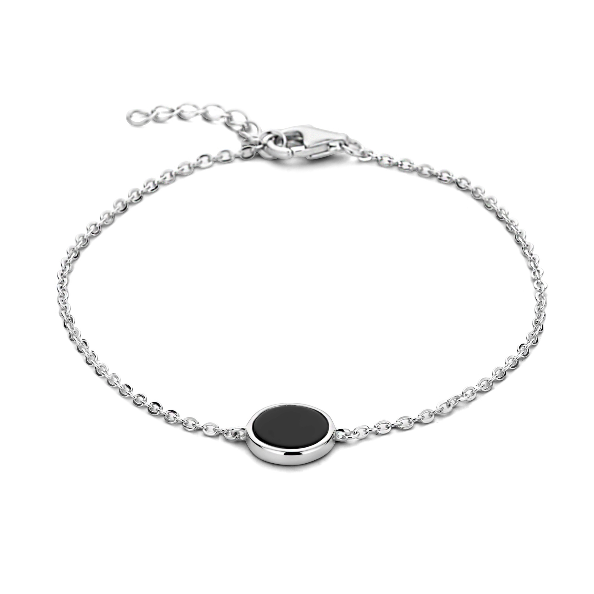 Selected Jewels Mila Sophie 925 sterling silver bracelet with black onyx