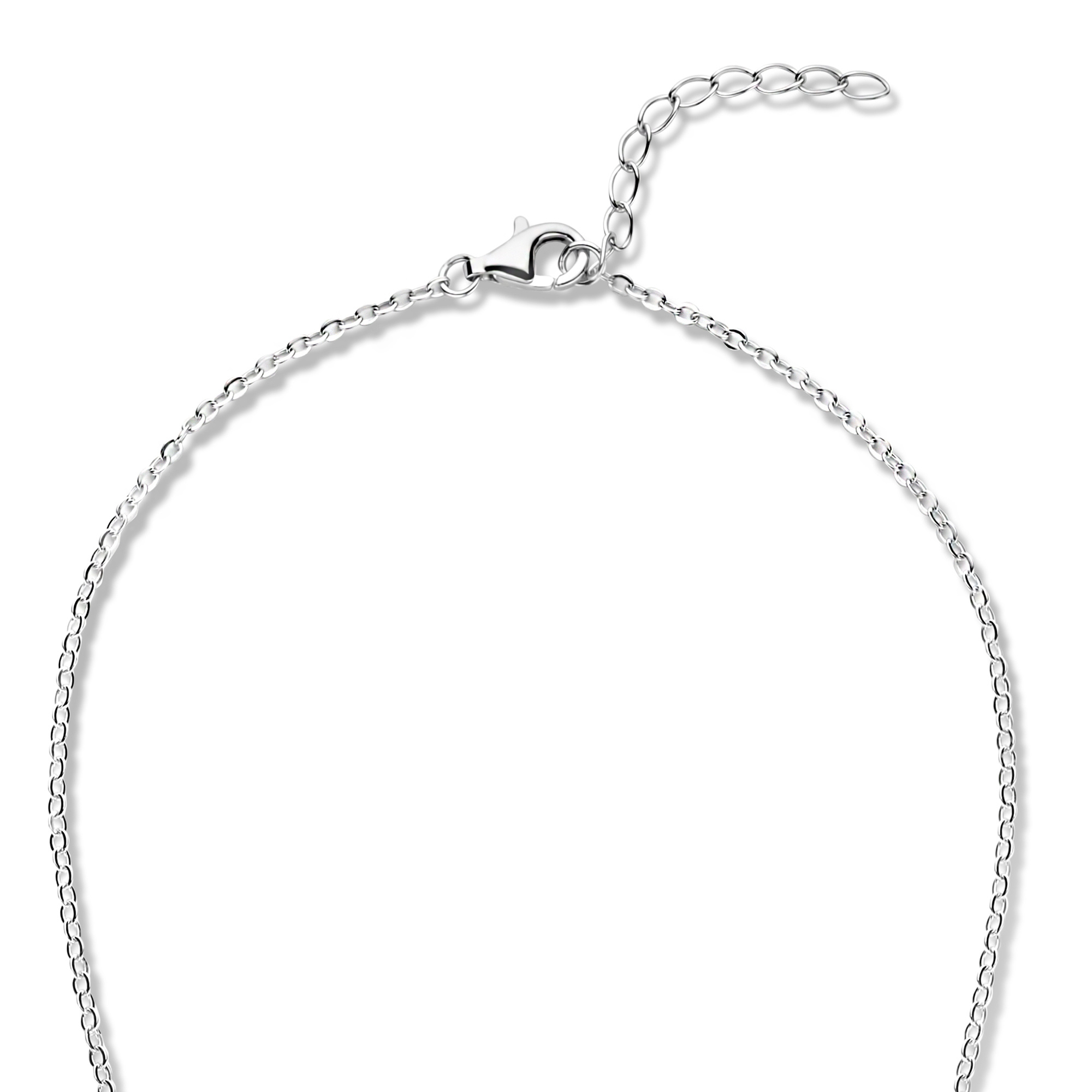 Selected Jewels Mila Sophie 925 sterling silver necklace with black onyx