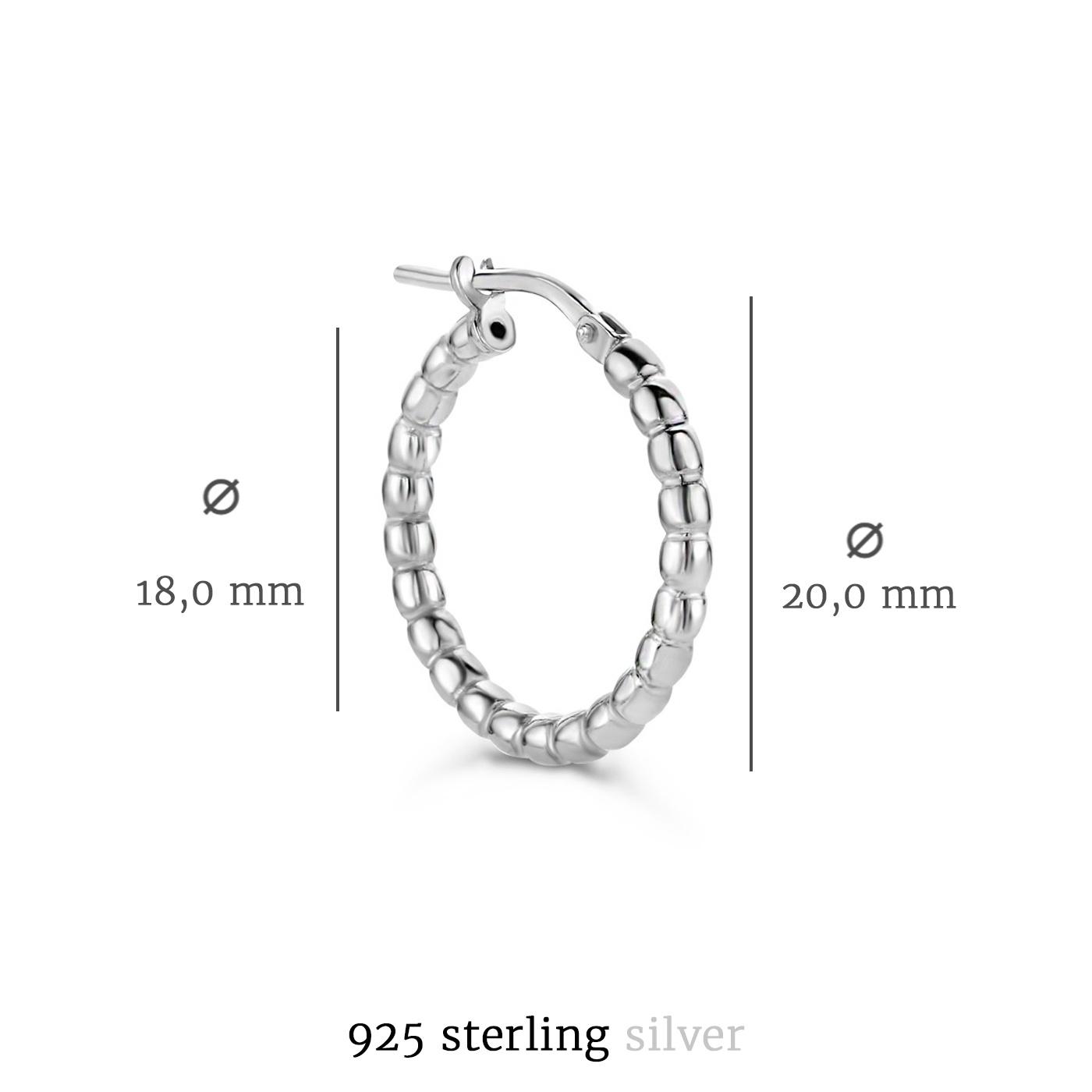 Selected Jewels Léna Manon 925 sterling silver hoop earrings