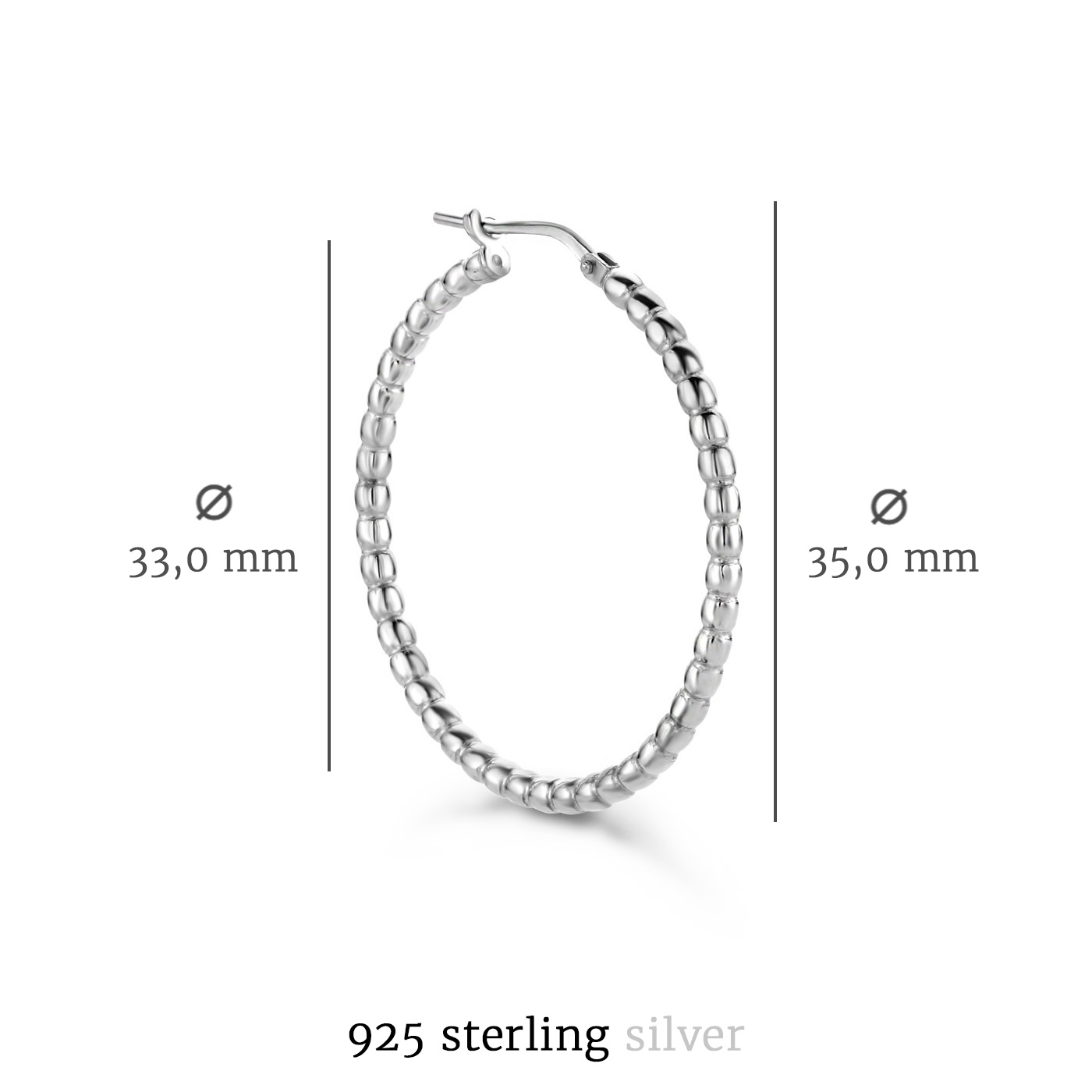 Selected Jewels Léna Manon creole in argento sterling 925