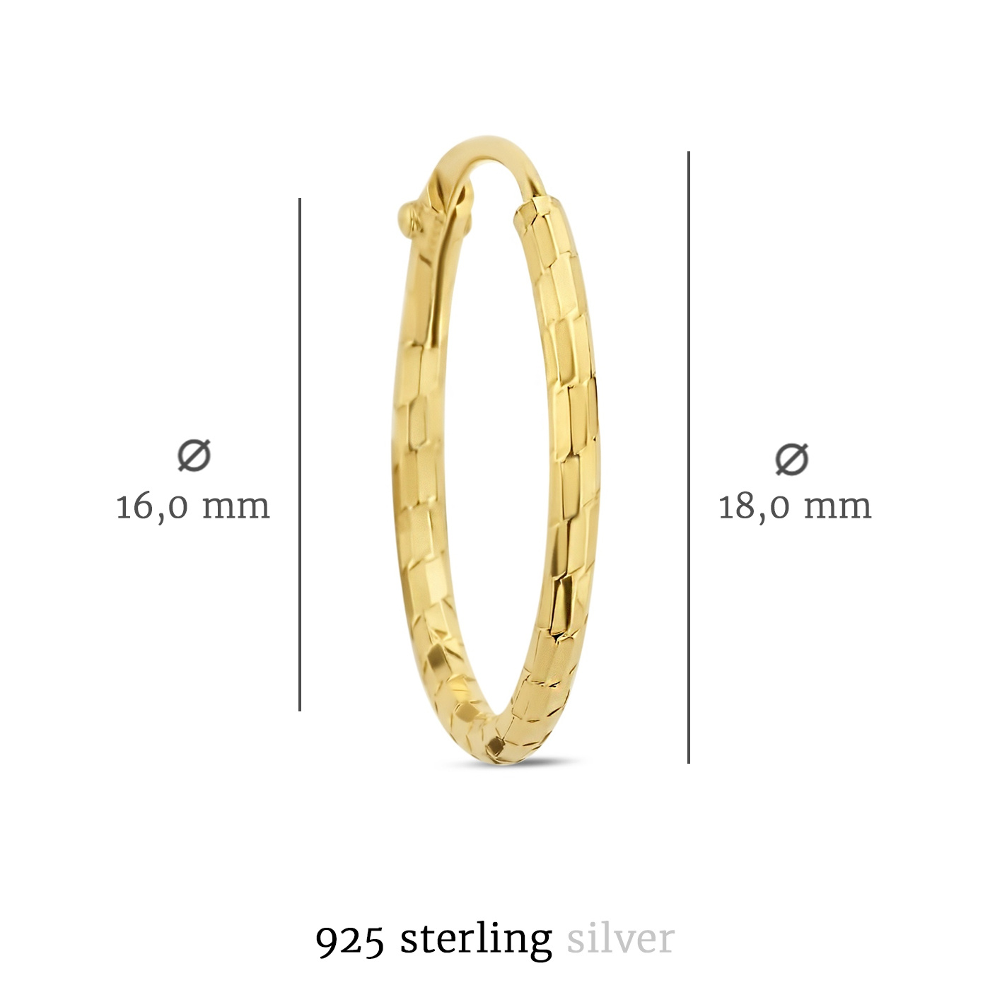 Selected Jewels Zoé creole color oro in argento sterling 925