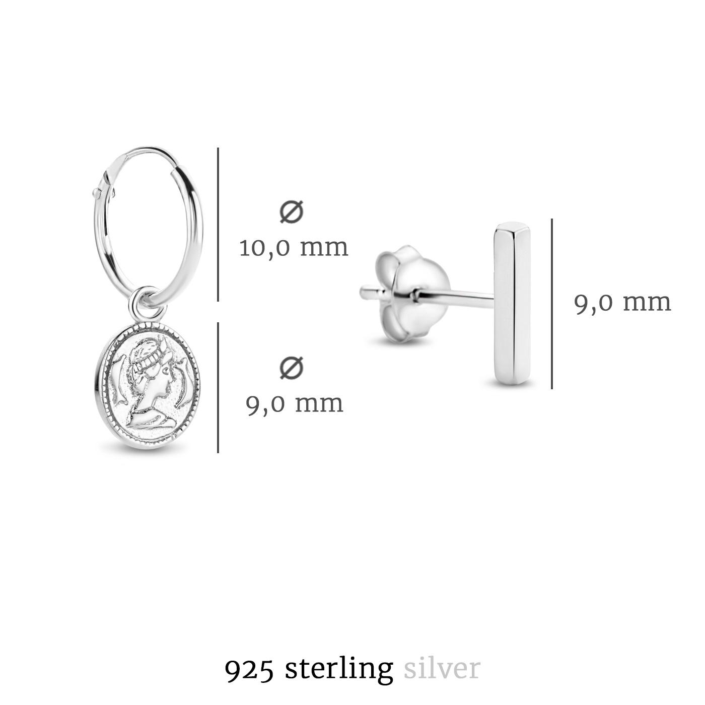 Selected Jewels Selected Gifts 925 sterling zilveren set oorbellen van 2 paar oorbellen