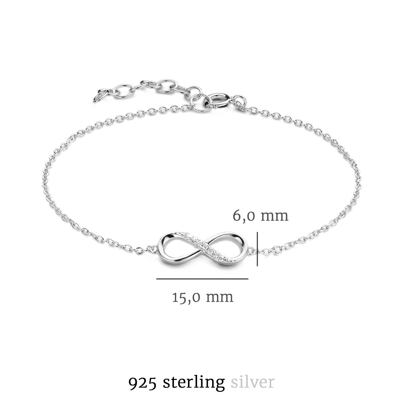 Selected Jewels Julie Emilie 925 sterling zilveren infinity armband