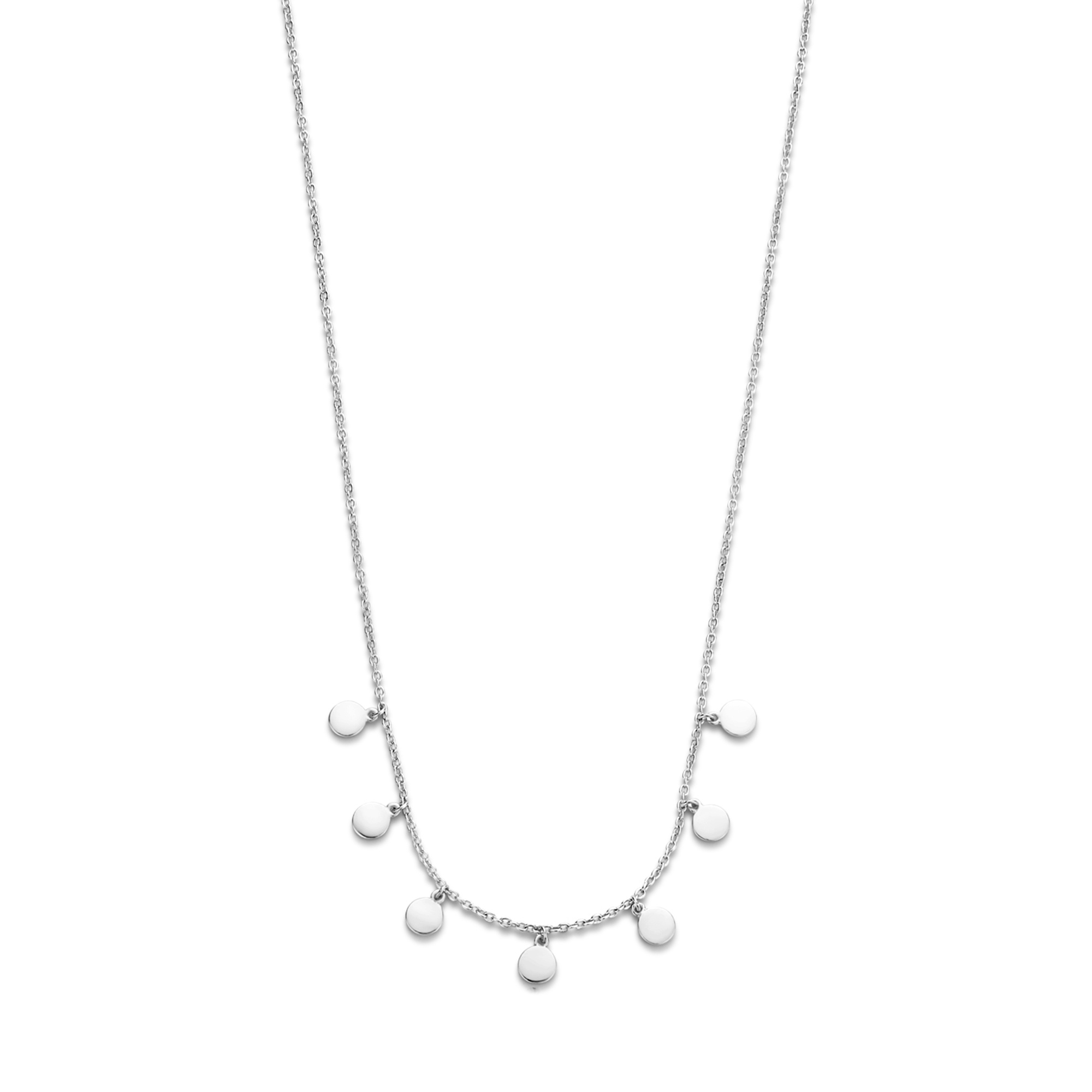 Selected Jewels Julie Belle 925 sterling silver necklace with coins
