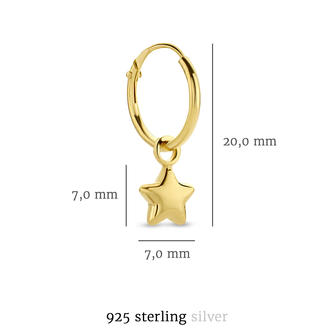 Selected Jewels Julie Esthée creole color oro in argento sterling 925