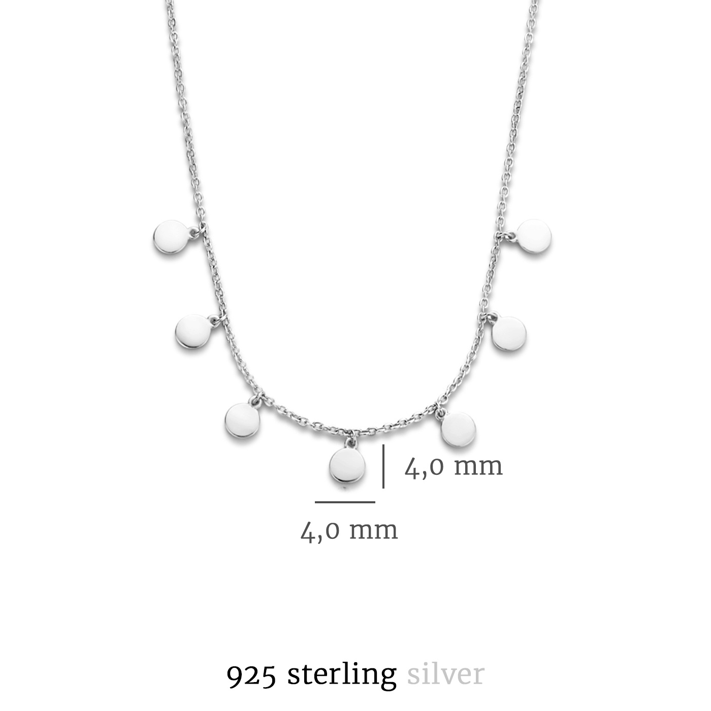 Selected Jewels Julie Belle collana in argento sterling 925