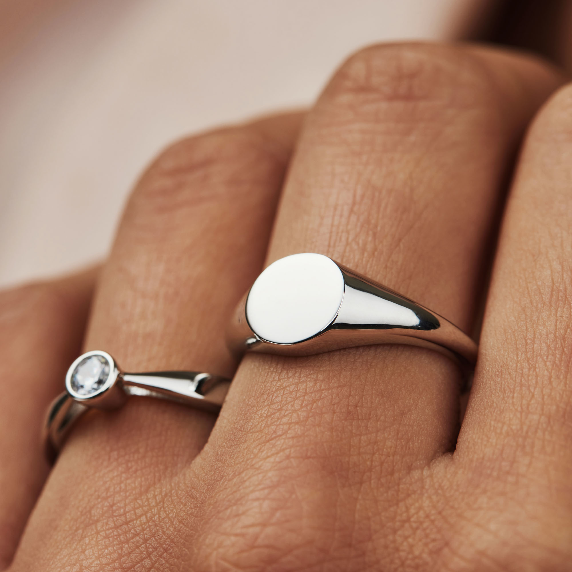 Selected Jewels Mila Elodie 925 sterling silver ring with zirconia