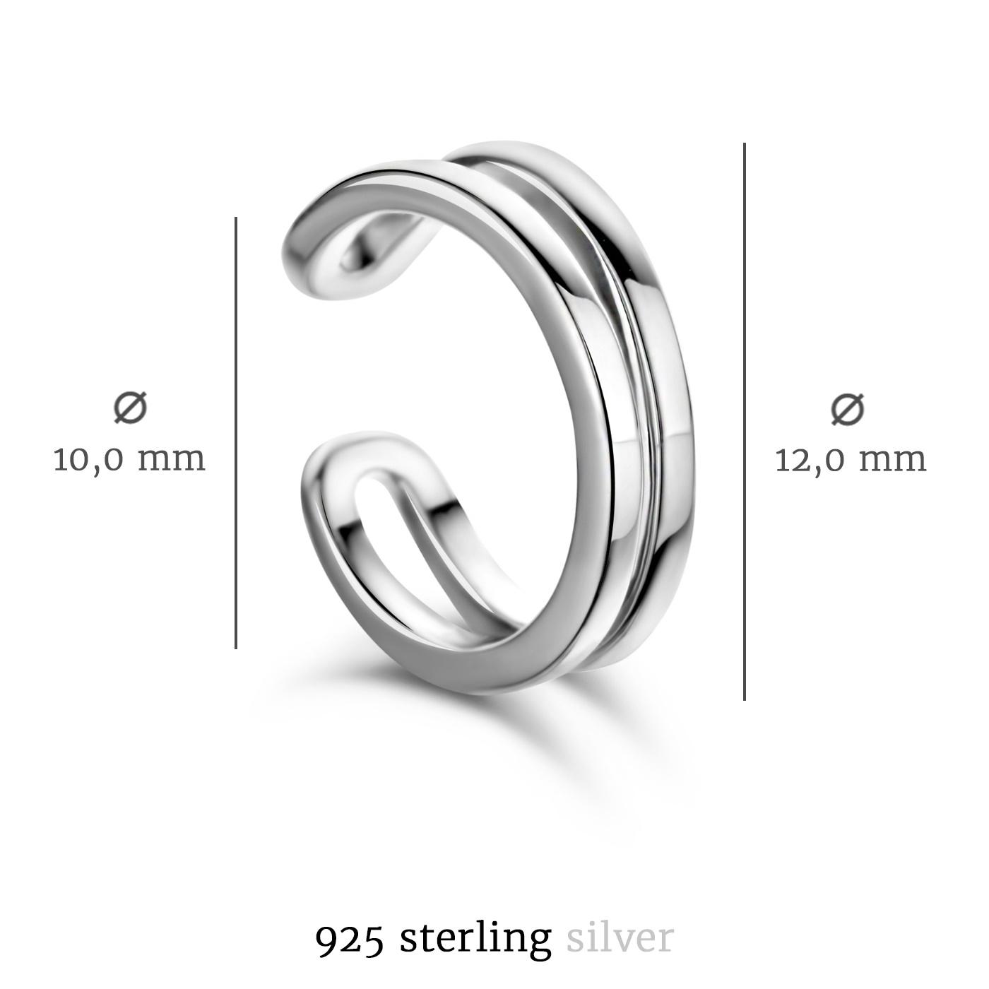Selected Jewels Léna Joy 925 sterling zilveren enkele ear cuff