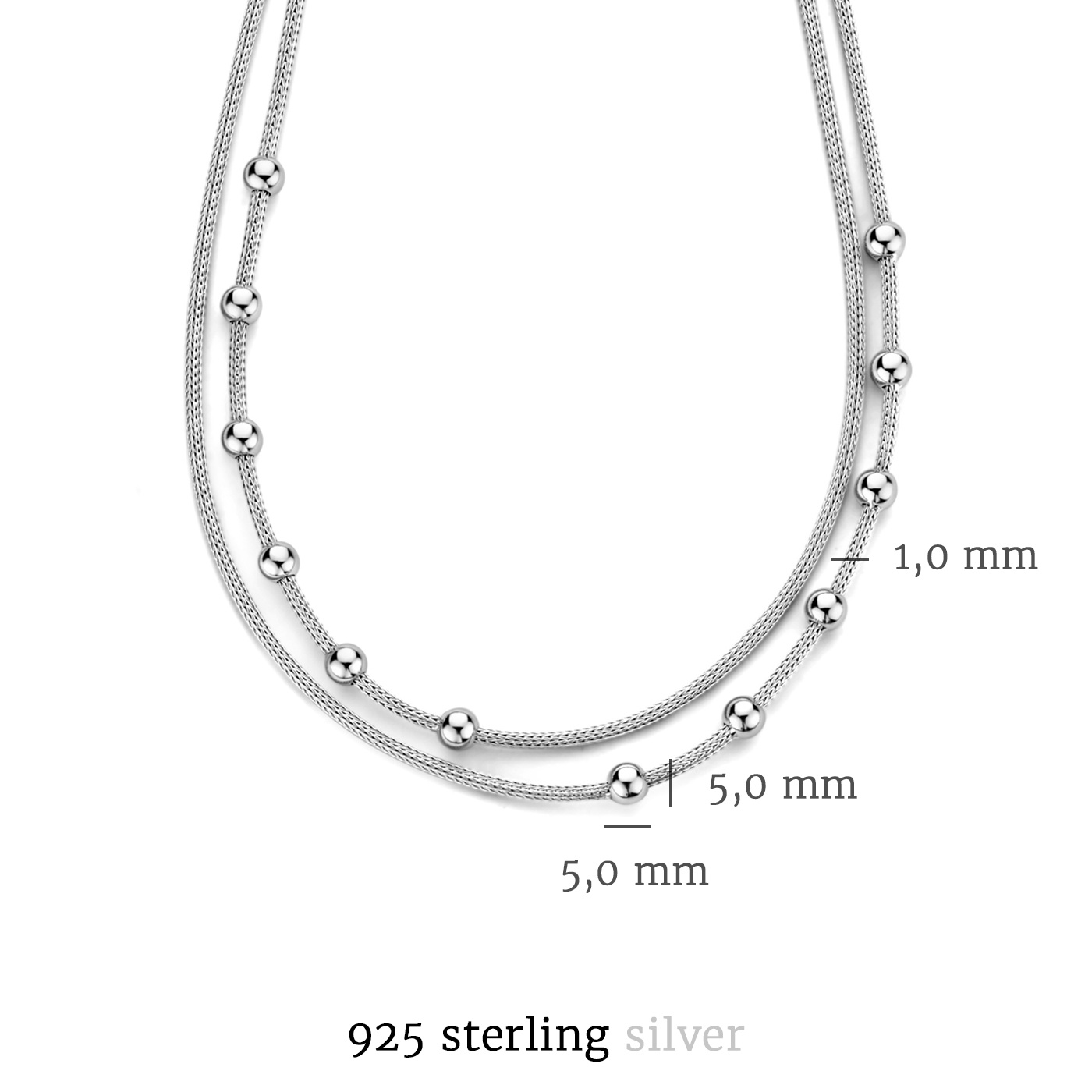 Selected Jewels Léna Nina 925 Sterling Silber Doppelt Kette