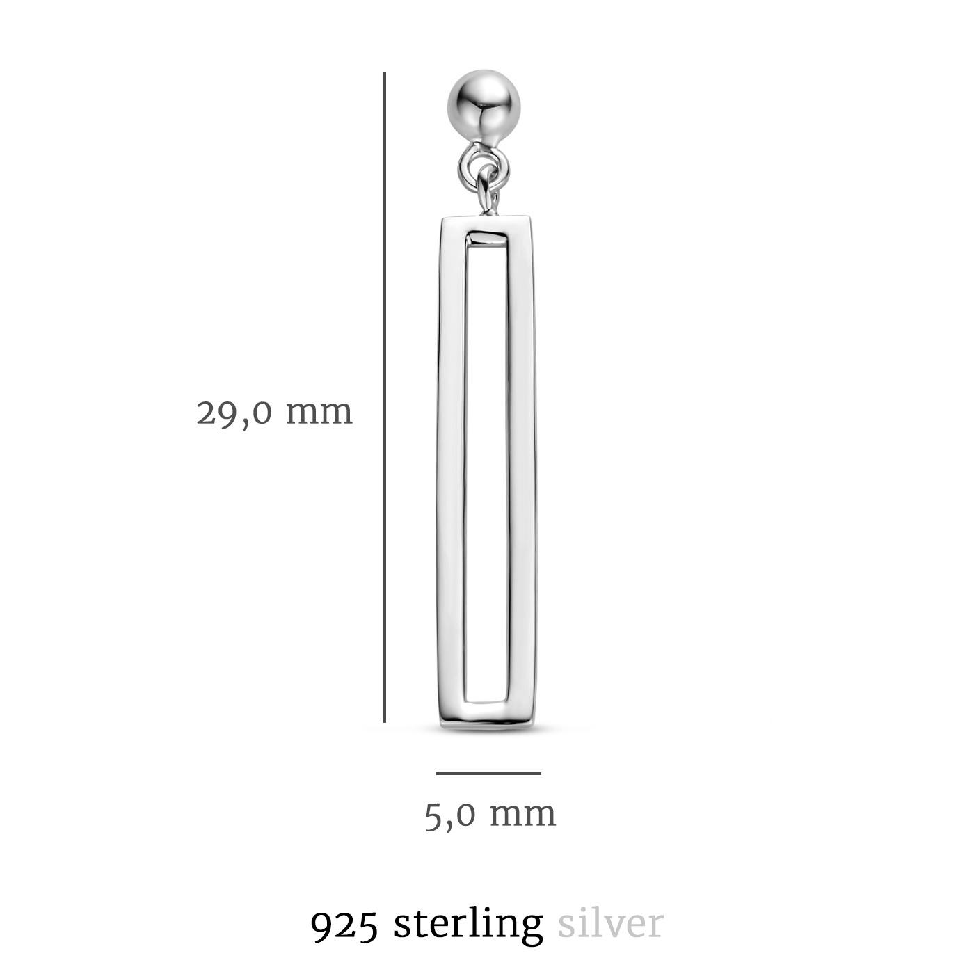 Selected Jewels Emma Vieve orecchini pendenti in argento sterling 925