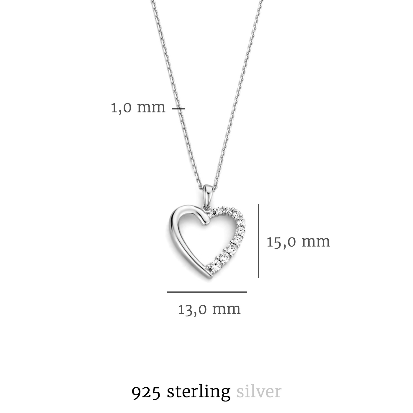 Selected Jewels Aimée collana in argento sterling 925