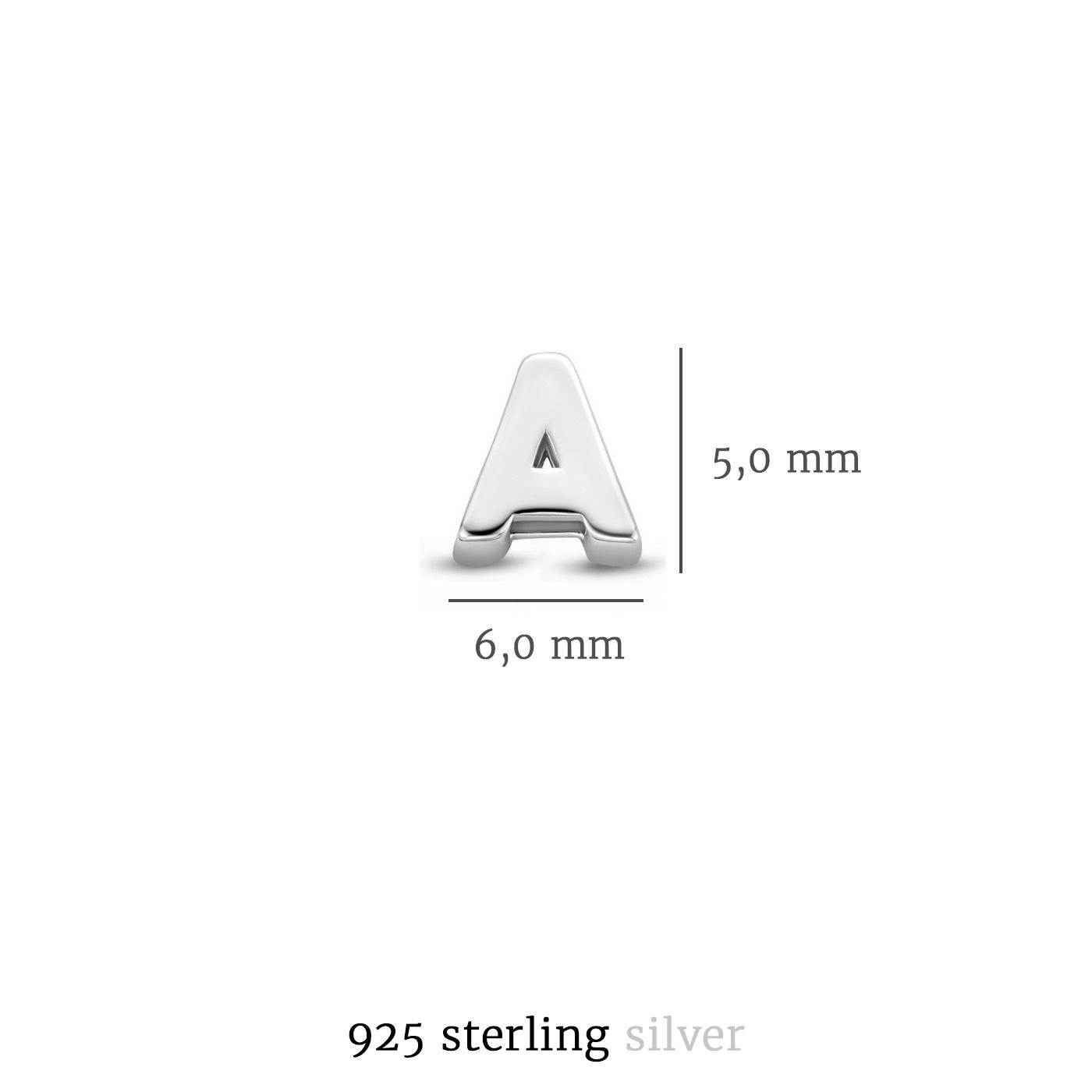 Selected Jewels Julie Chloé 925 sterling sølv indledende enkelt ørering
