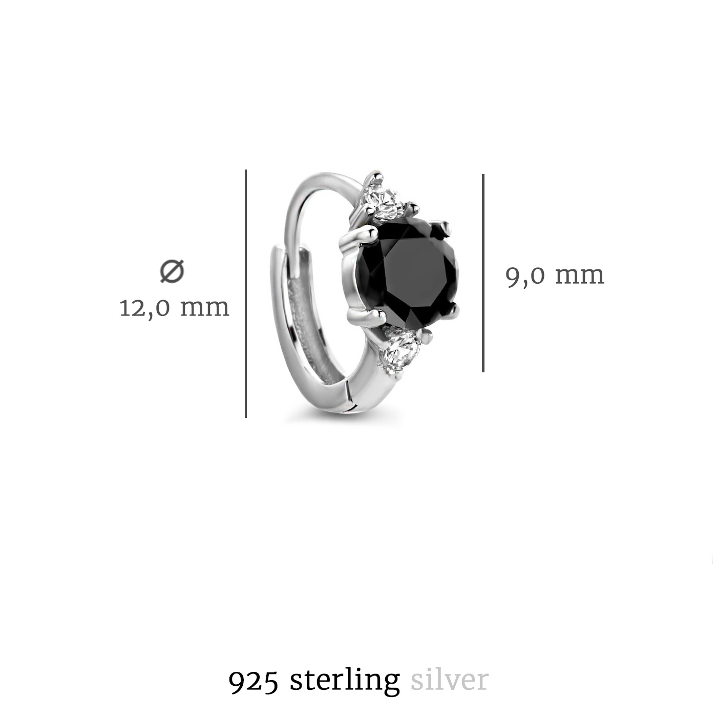 Selected Jewels Mila Sophie 925 Sterling Silber Creolen
