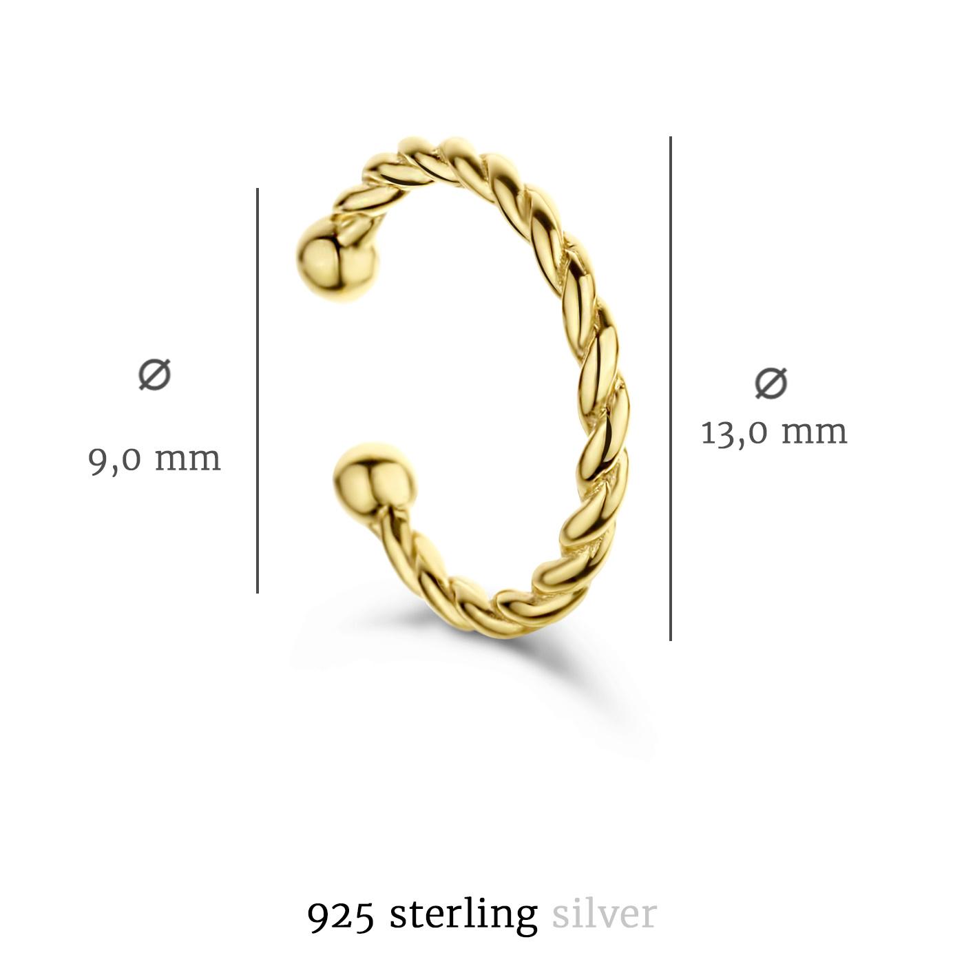 Selected Jewels Léna Joy 925 sterling silver guldfärgad ear cuff