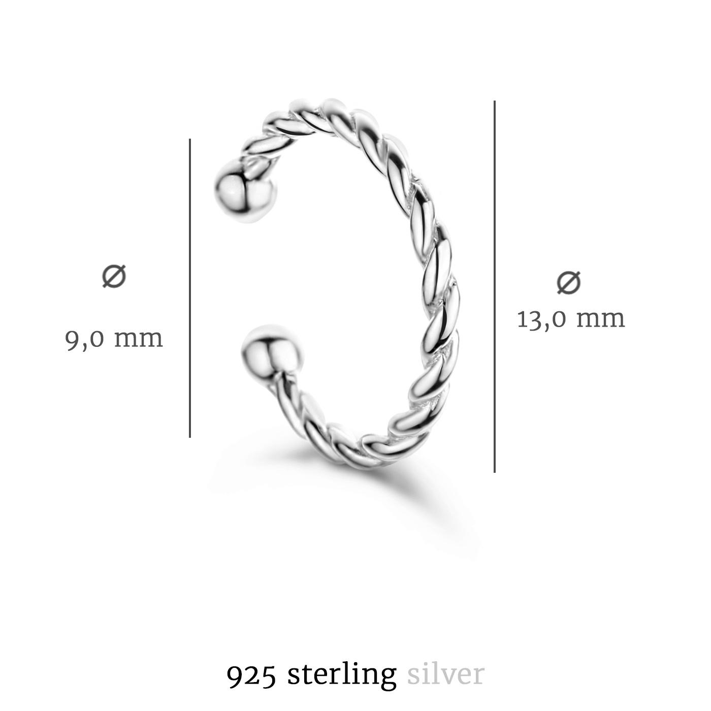 Selected Jewels Léna Joy 925 sterling sølv enkelt ear cuff