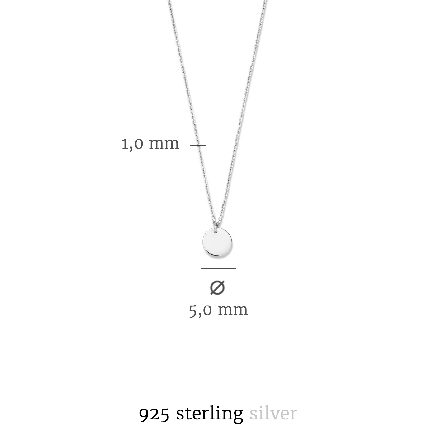 Selected Jewels Julie Belle 925 sterling silver necklace with coin