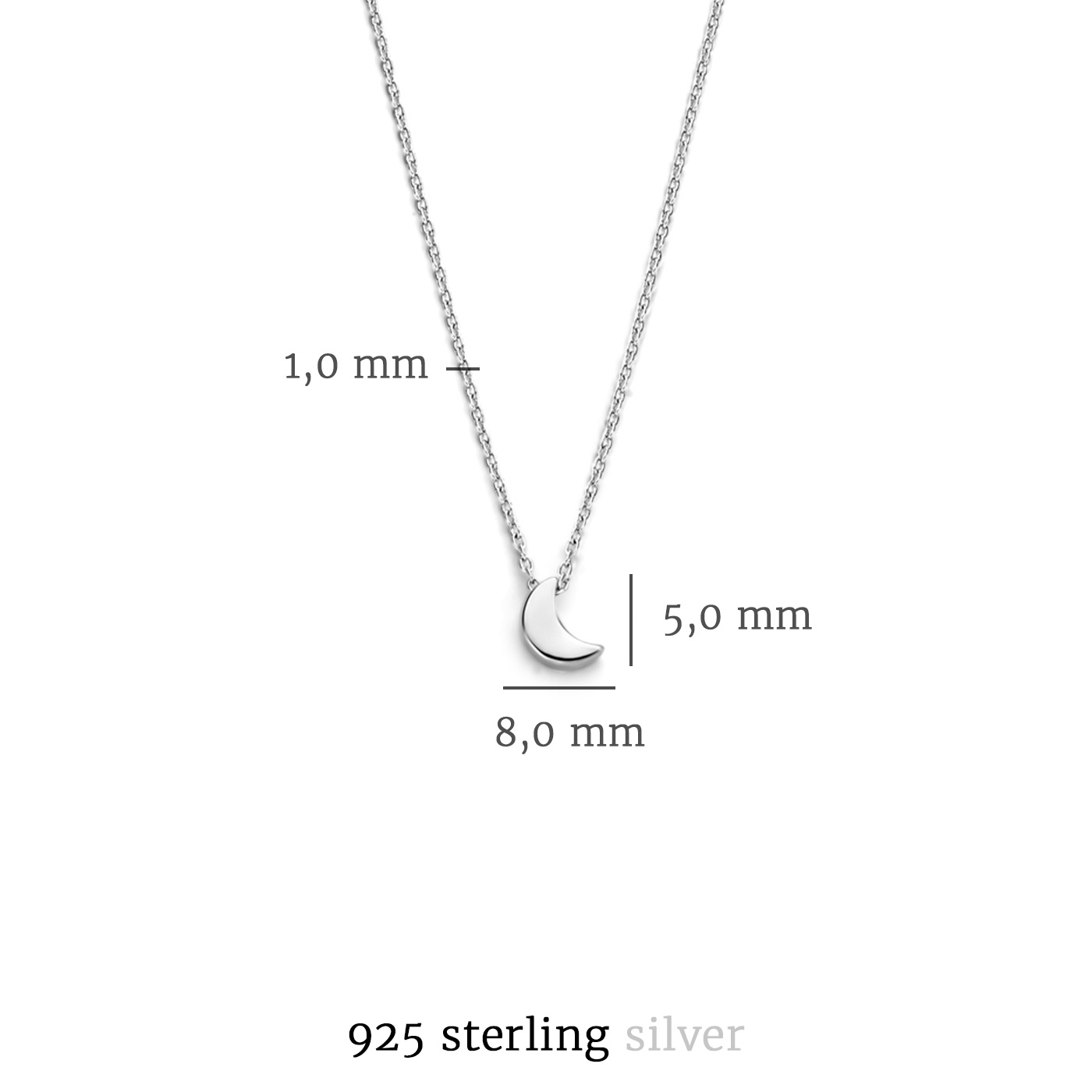 Selected Jewels Julie Louna 925 sterling silver necklace with moon